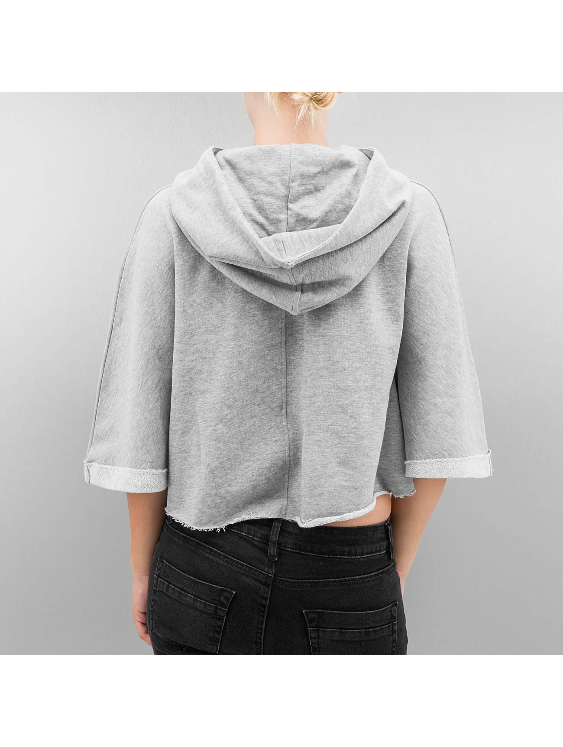 Urban Classics Hoodie Cropped grey