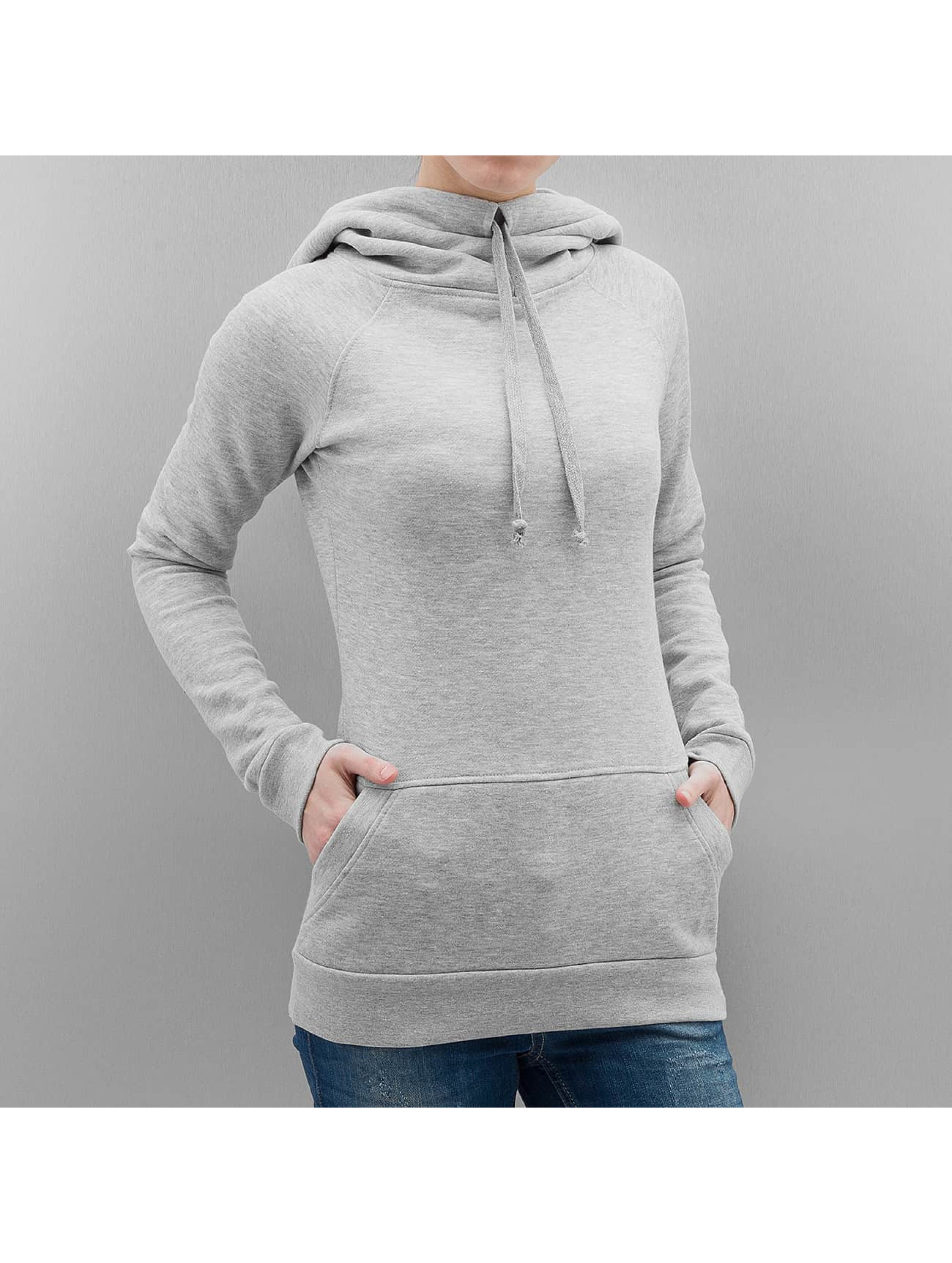Urban Classics Hoodie Ladies High Neck grey