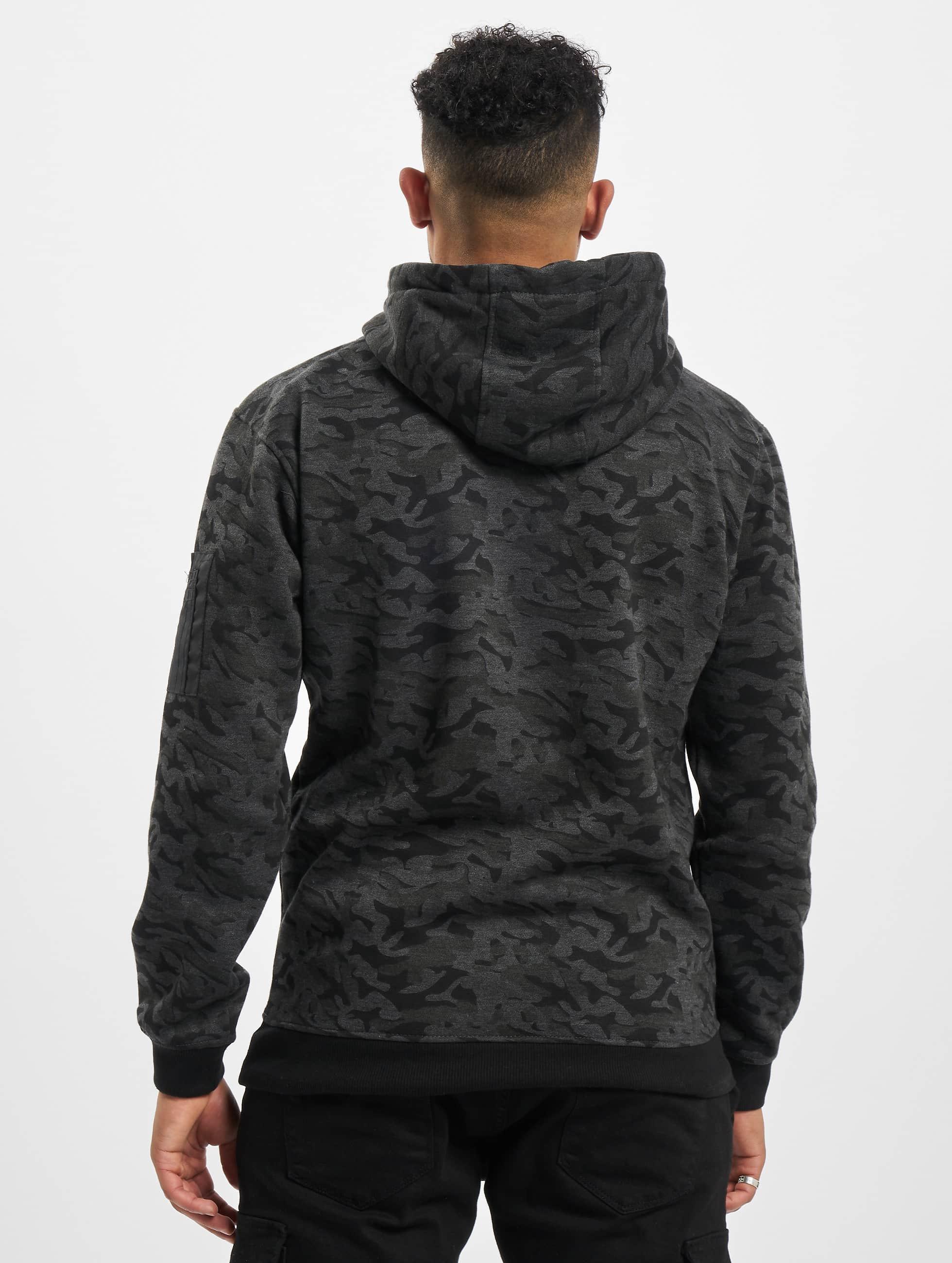 Urban Classics Hoodie Sweat Camo Bomber kamouflage