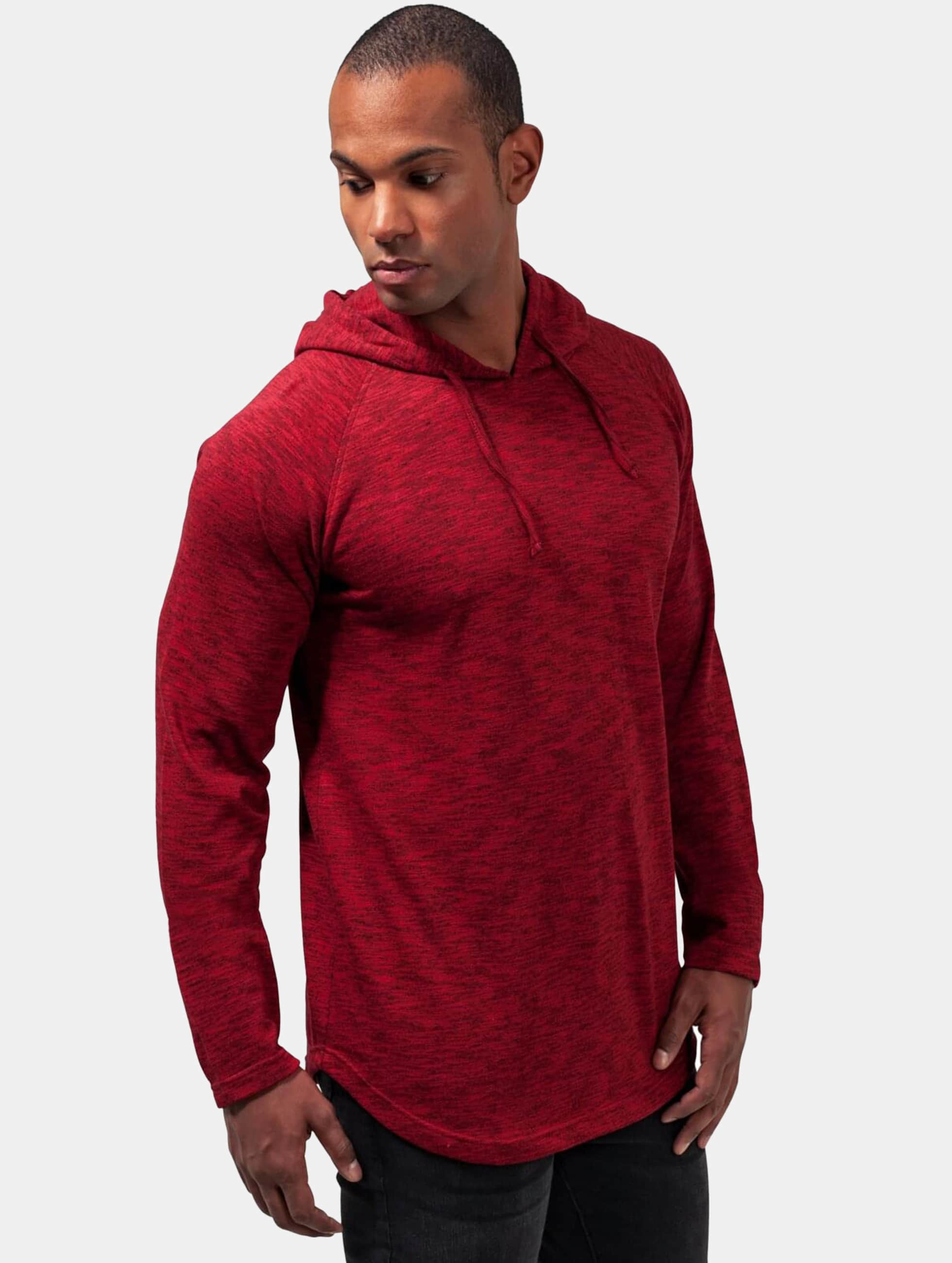 Urban Classics Hoodie Melange Shaped red