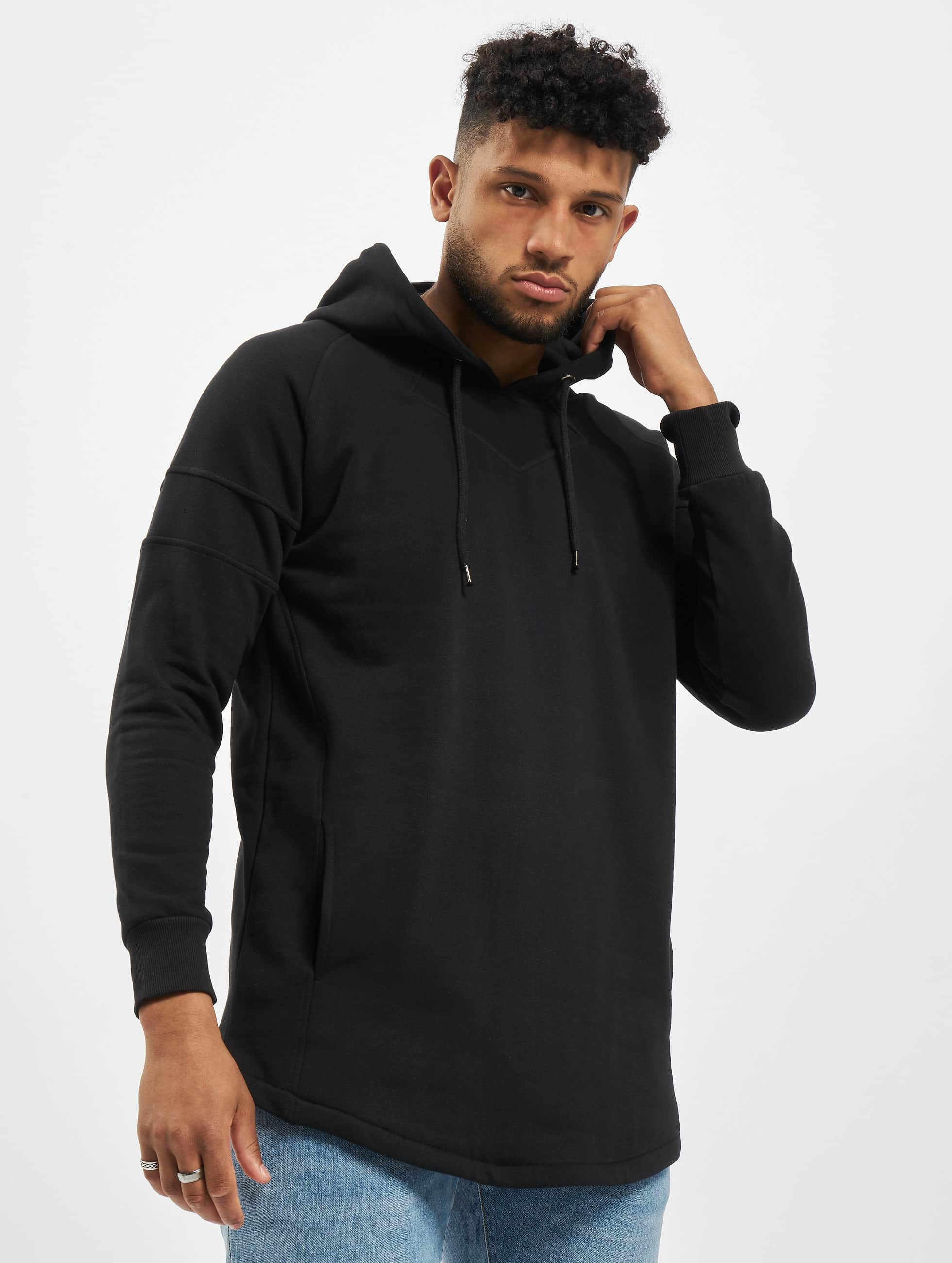 Urban Classics Hoodie Long Shaped svart