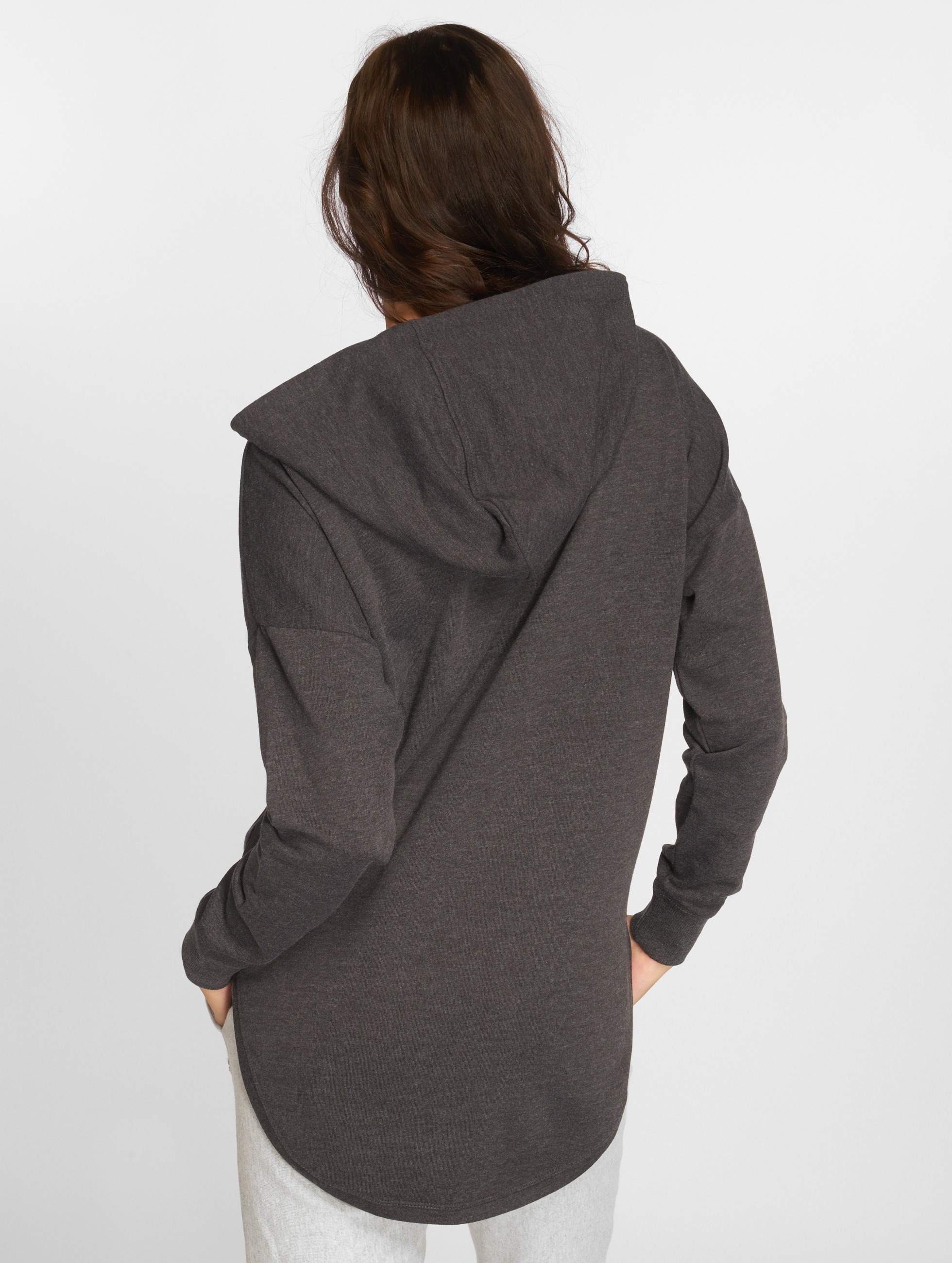 Urban Classics Hoody Ladies Oversized Terry grau