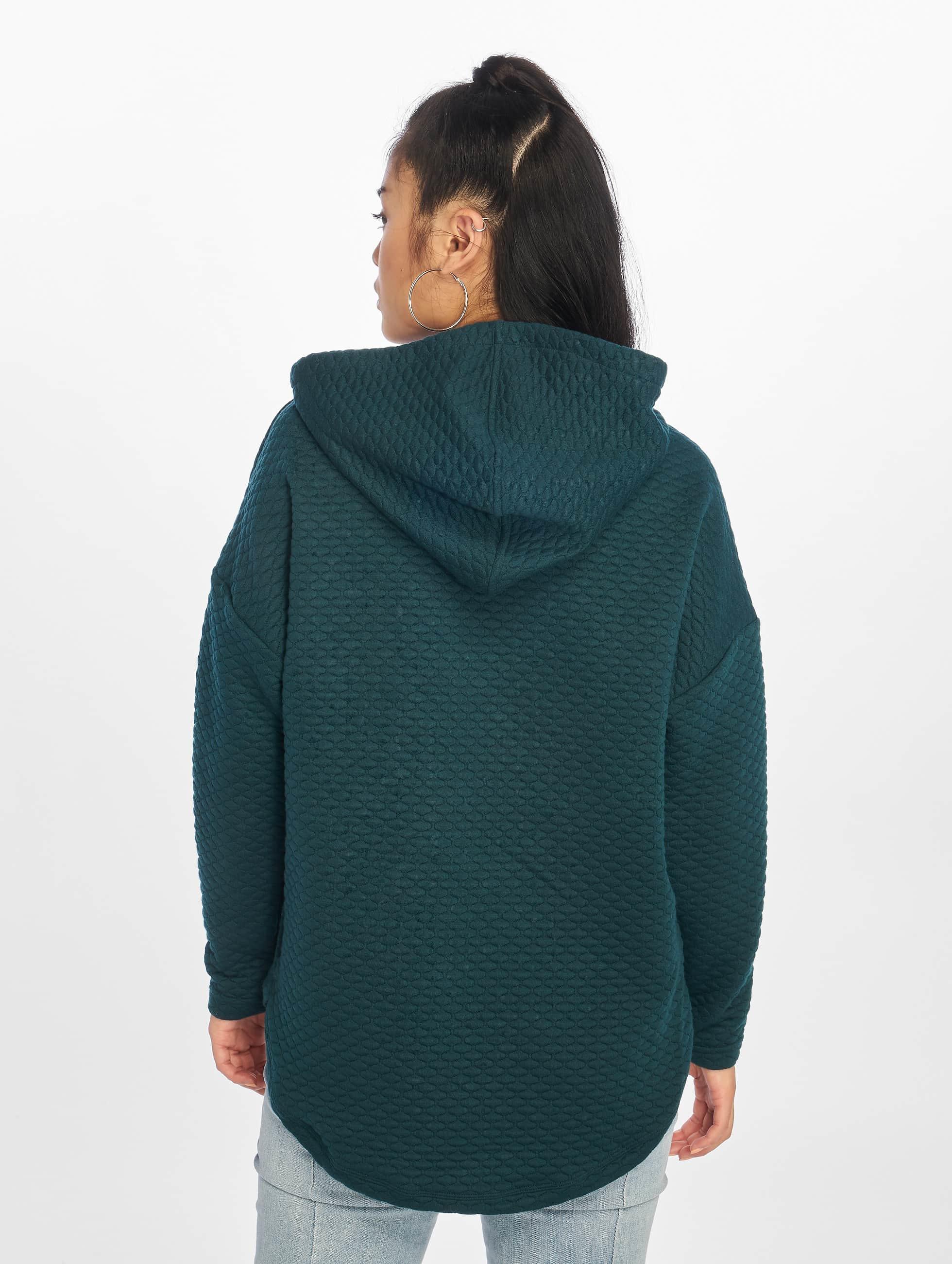 Urban Classics Hoody Quilt Oversize grün