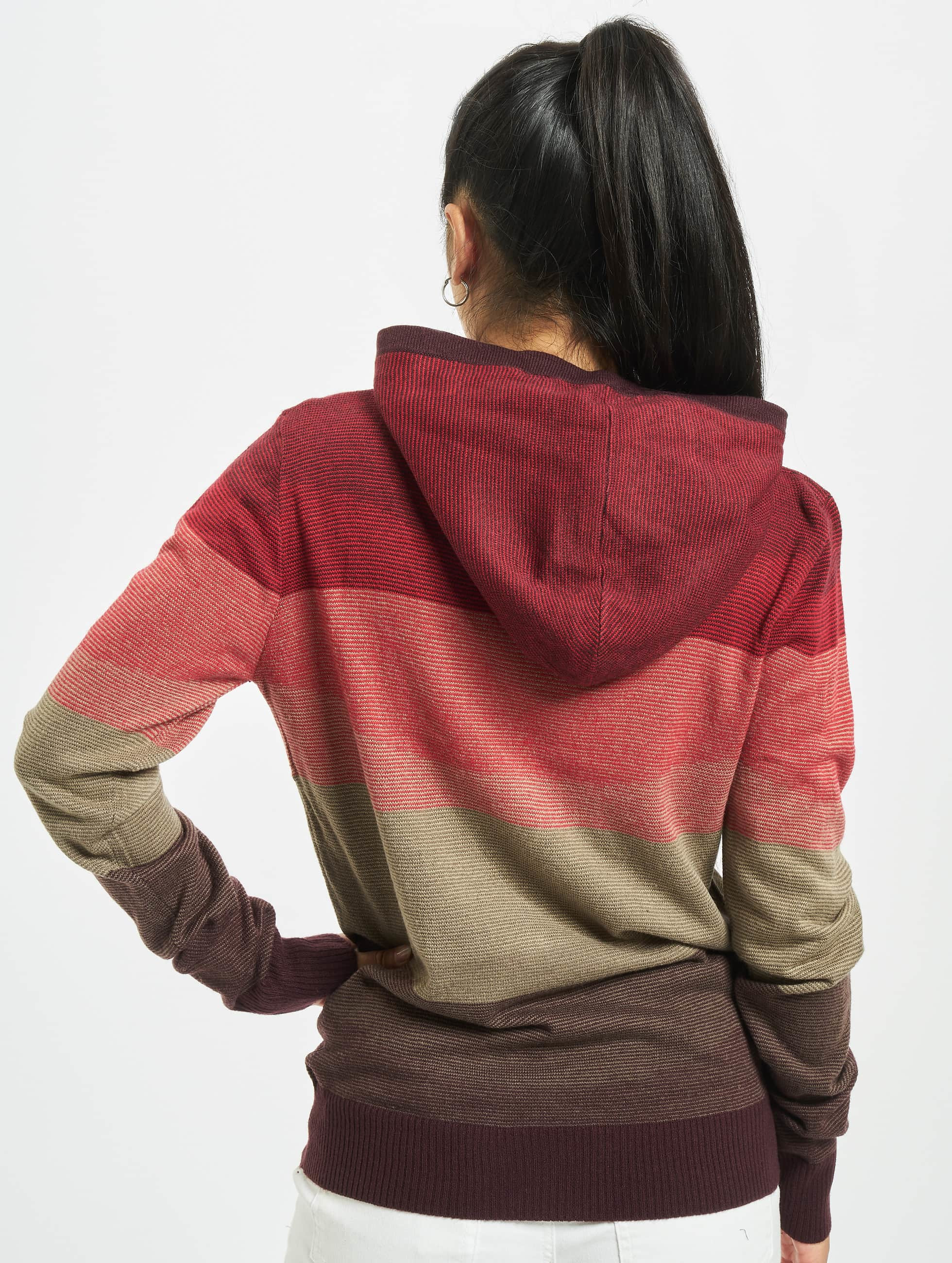 Urban Classics Hoody Multicolored High Neck rood