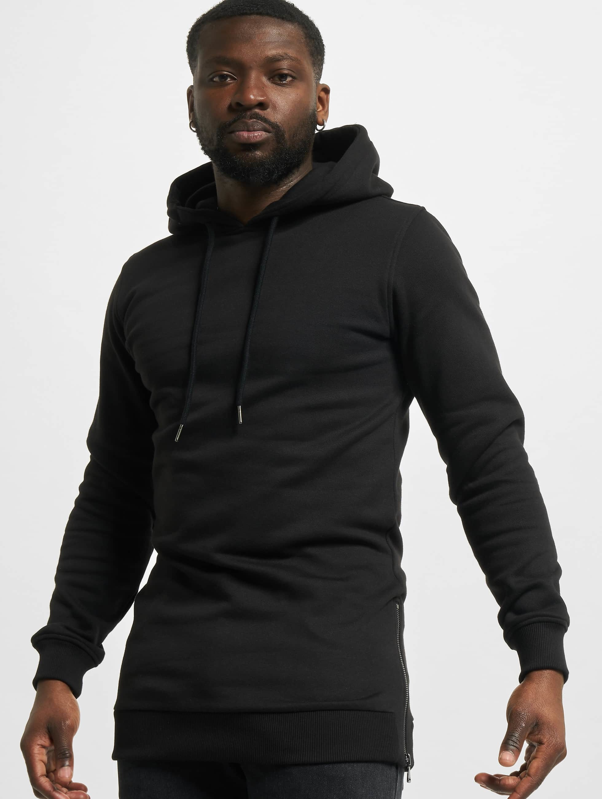 Urban Classics Hoody Long Side schwarz