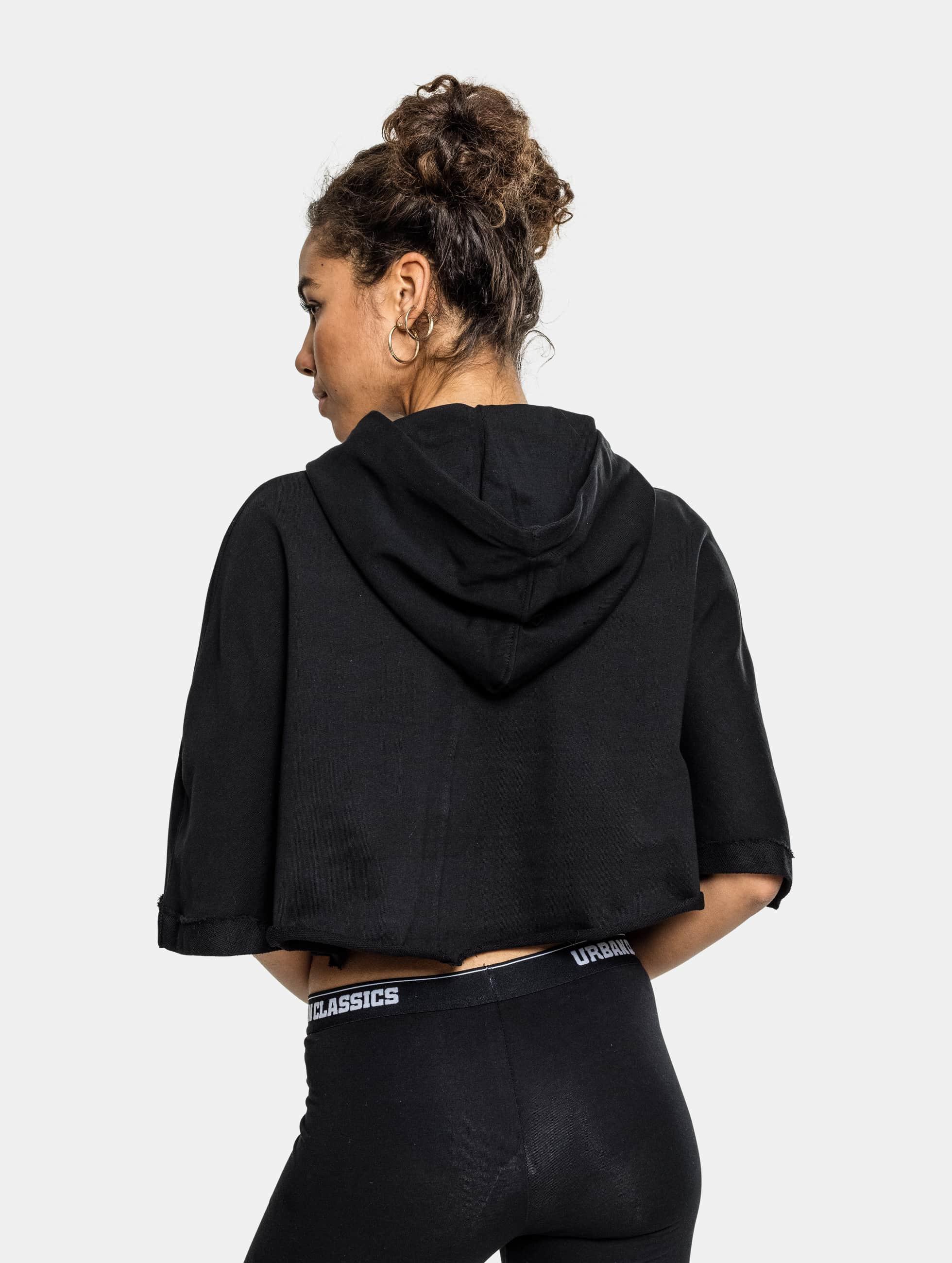Urban Classics Hoody Cropped zwart