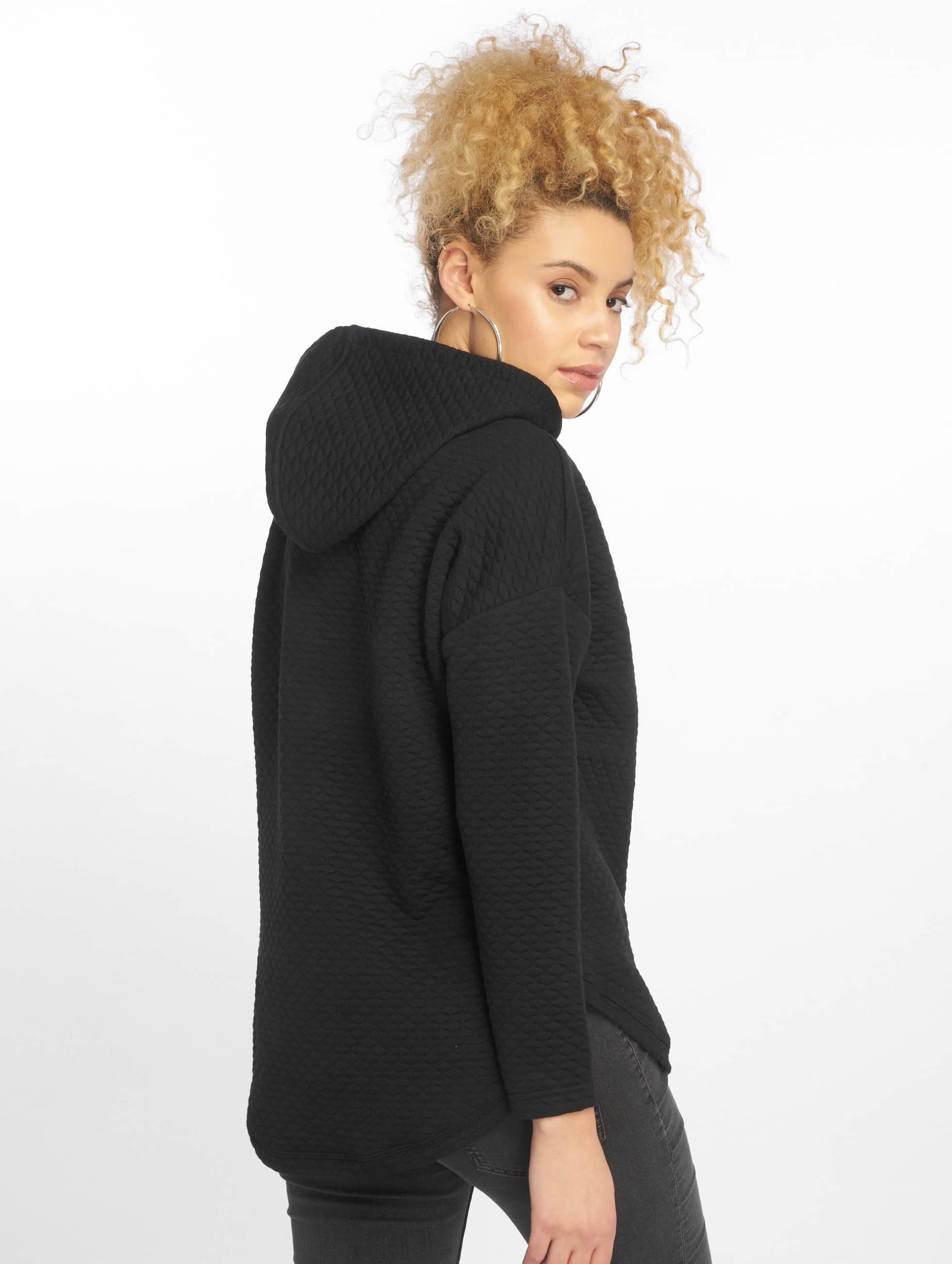 Urban Classics Hoody Quilt Oversize zwart