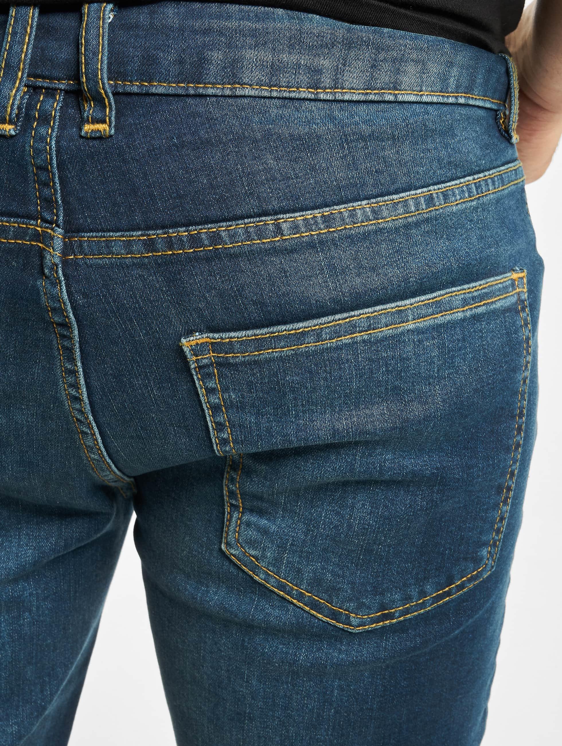 Urban Classics Jean coupe droite Stretch Denim bleu