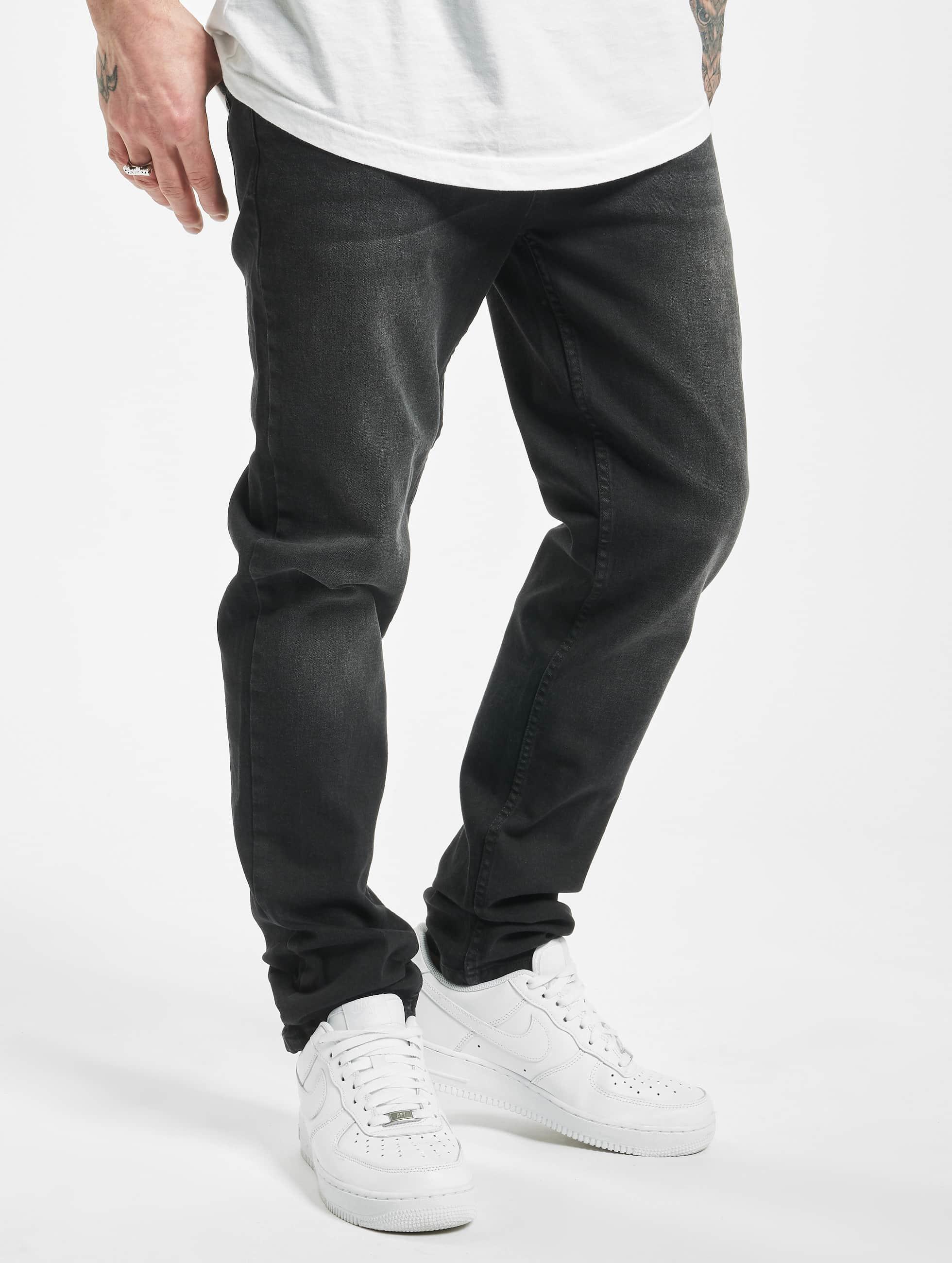 Urban Classics Jean coupe droite Stretch Denim noir