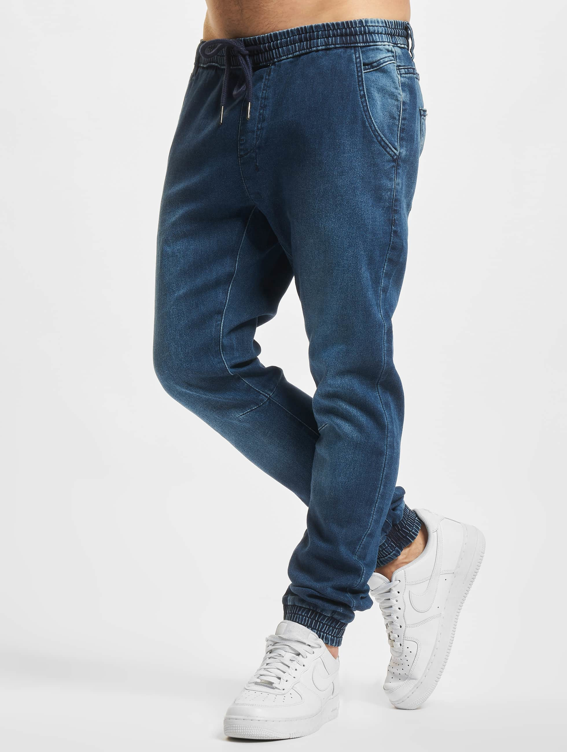 Urban Classics Joggebukser Knitted Denim blå