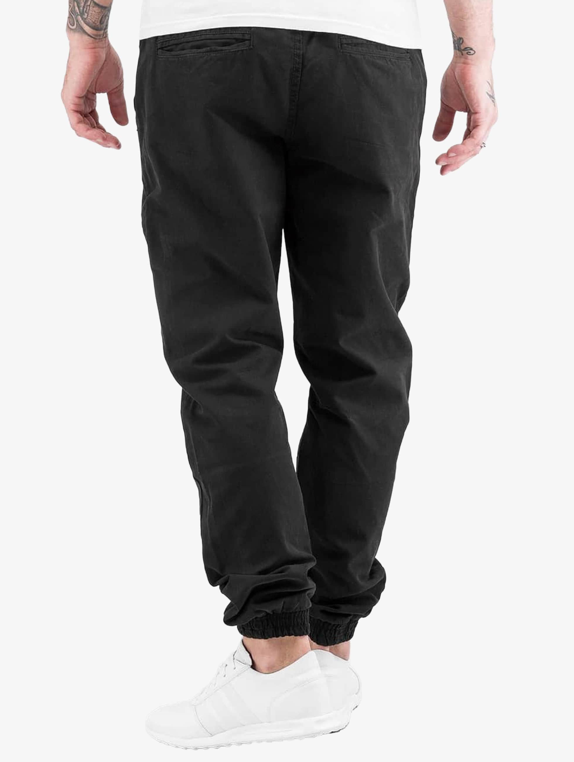 Urban Classics Joggebukser Washed Canvas svart