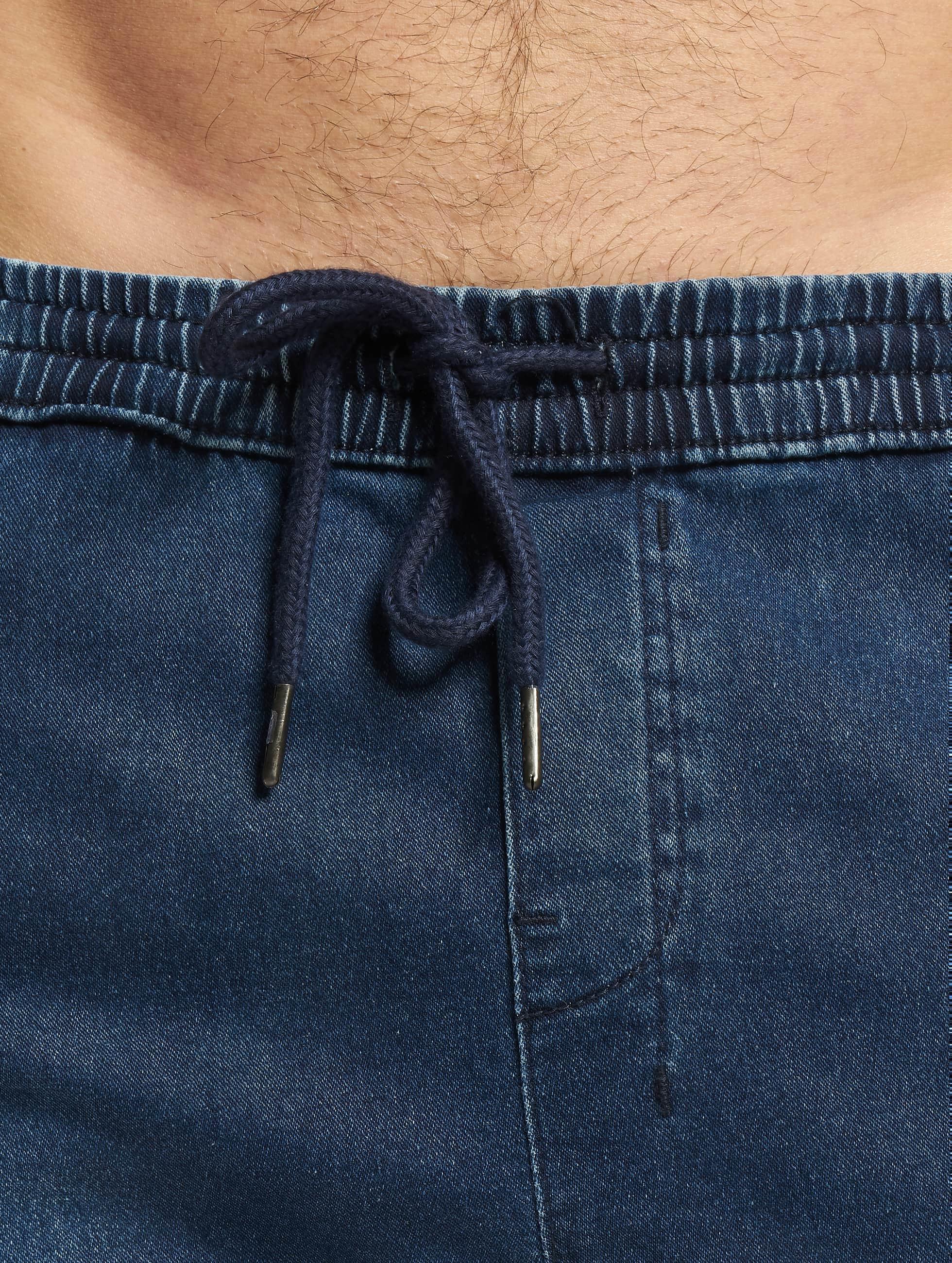 Urban Classics Jogging kalhoty Knitted Denim modrý