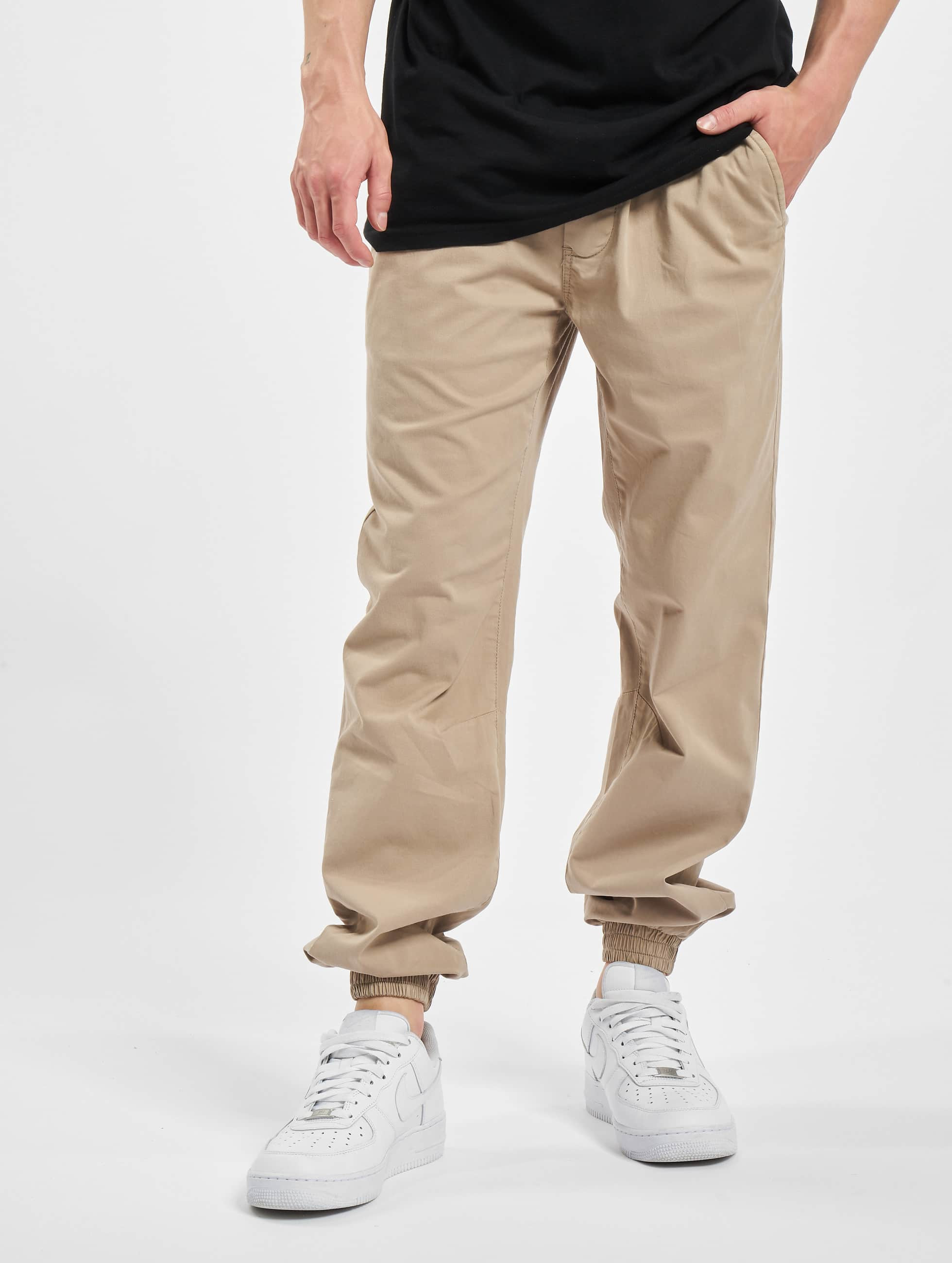 Urban Classics joggingbroek Stretch Twill beige