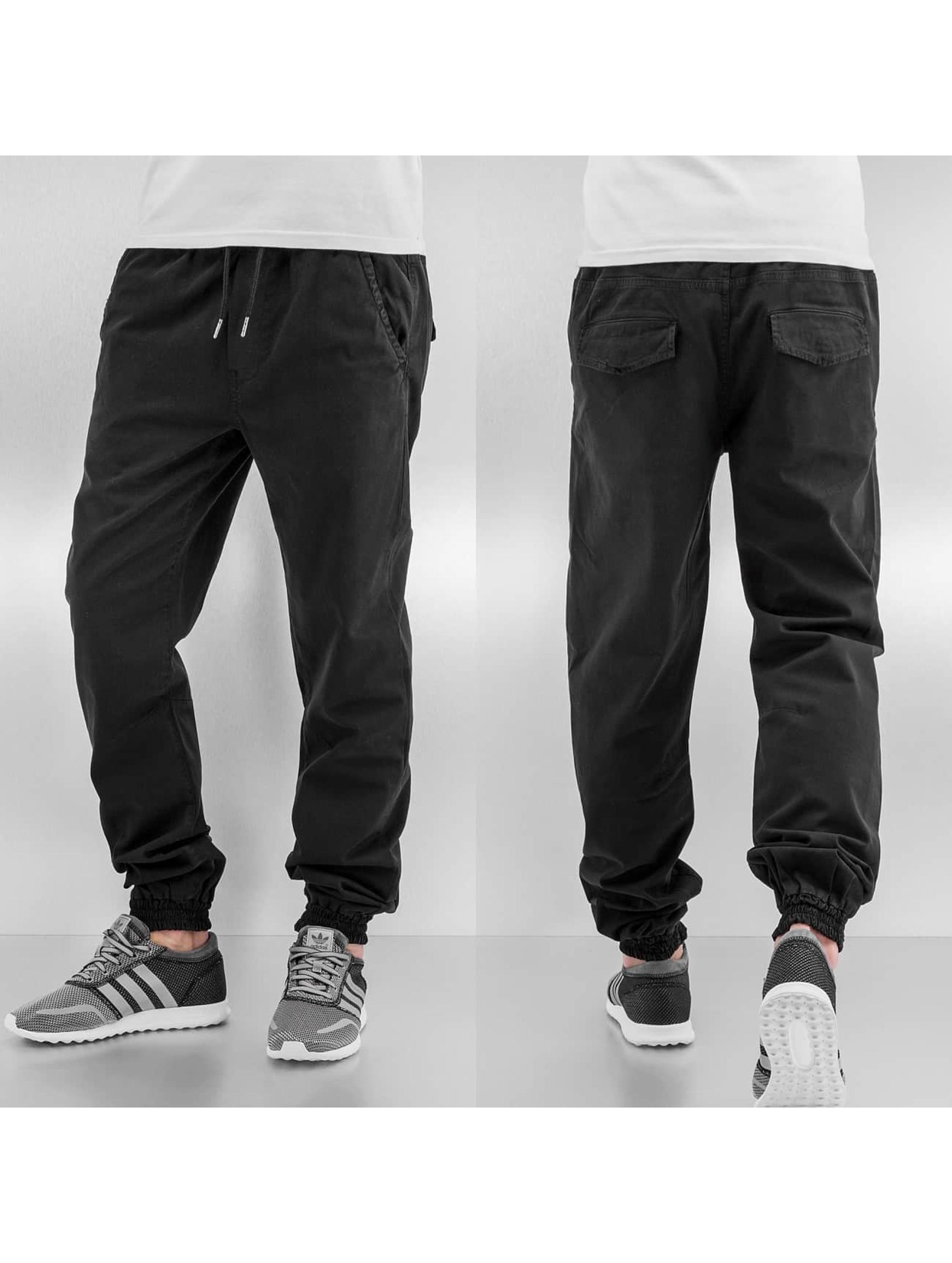 Urban Classics joggingbroek Stretch Twill zwart