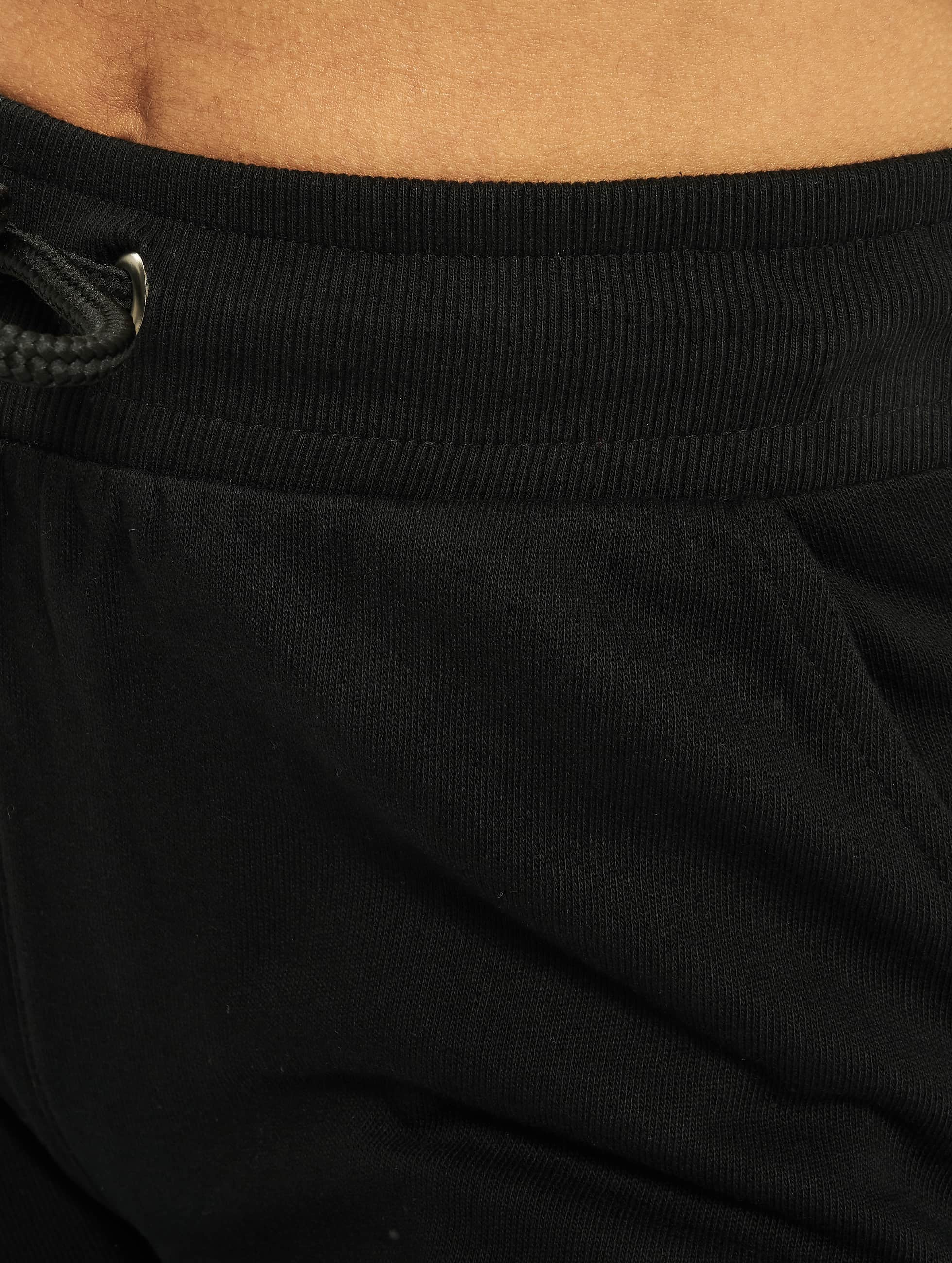 Urban Classics joggingbroek Cutted Terry zwart