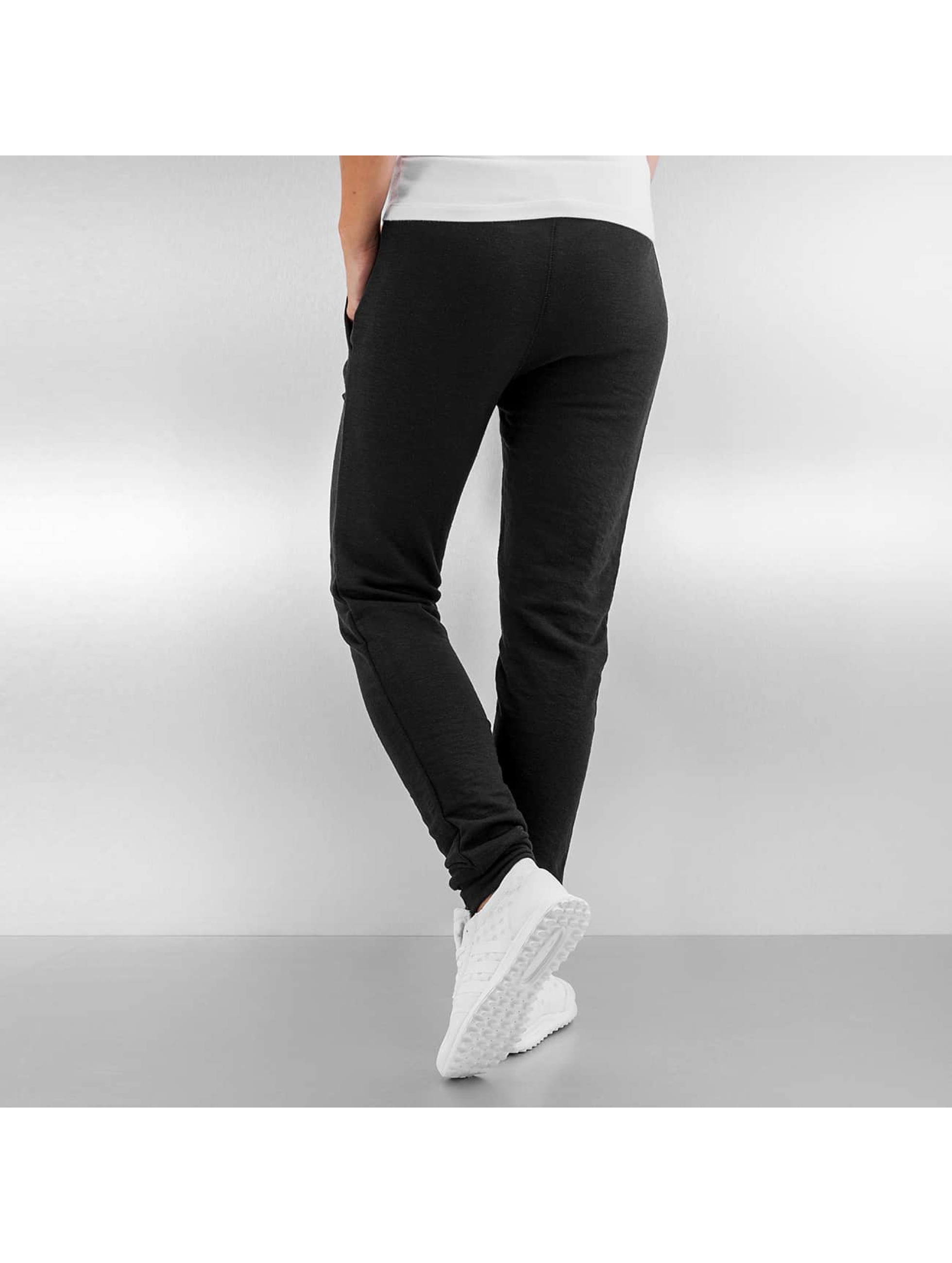 Urban Classics joggingbroek Fitted Slub Terry zwart