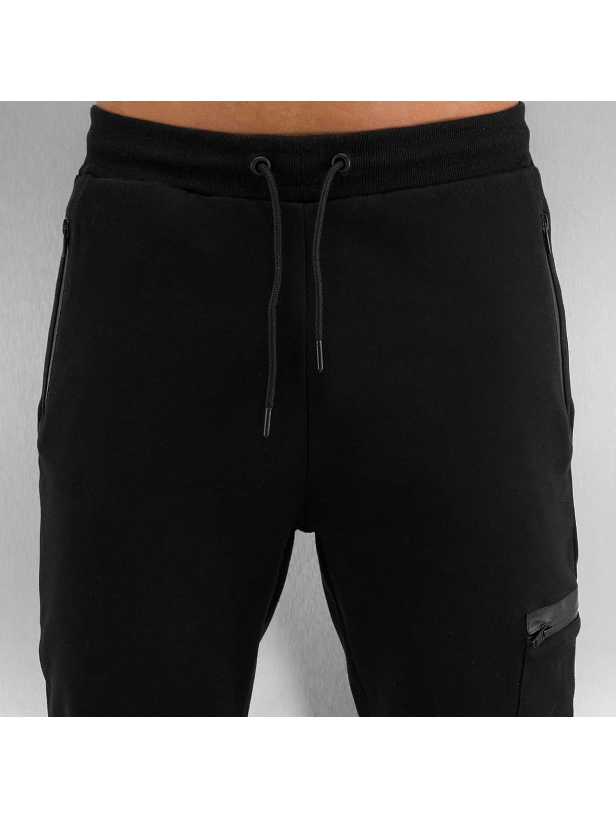 Urban Classics joggingbroek Athletic Interlock zwart