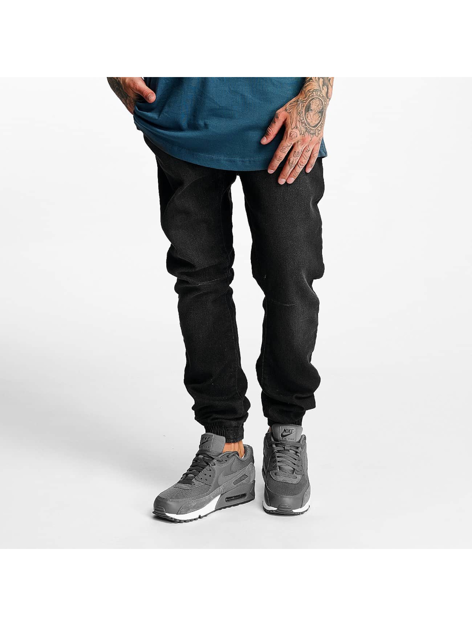 Urban Classics joggingbroek Knitted Denim zwart
