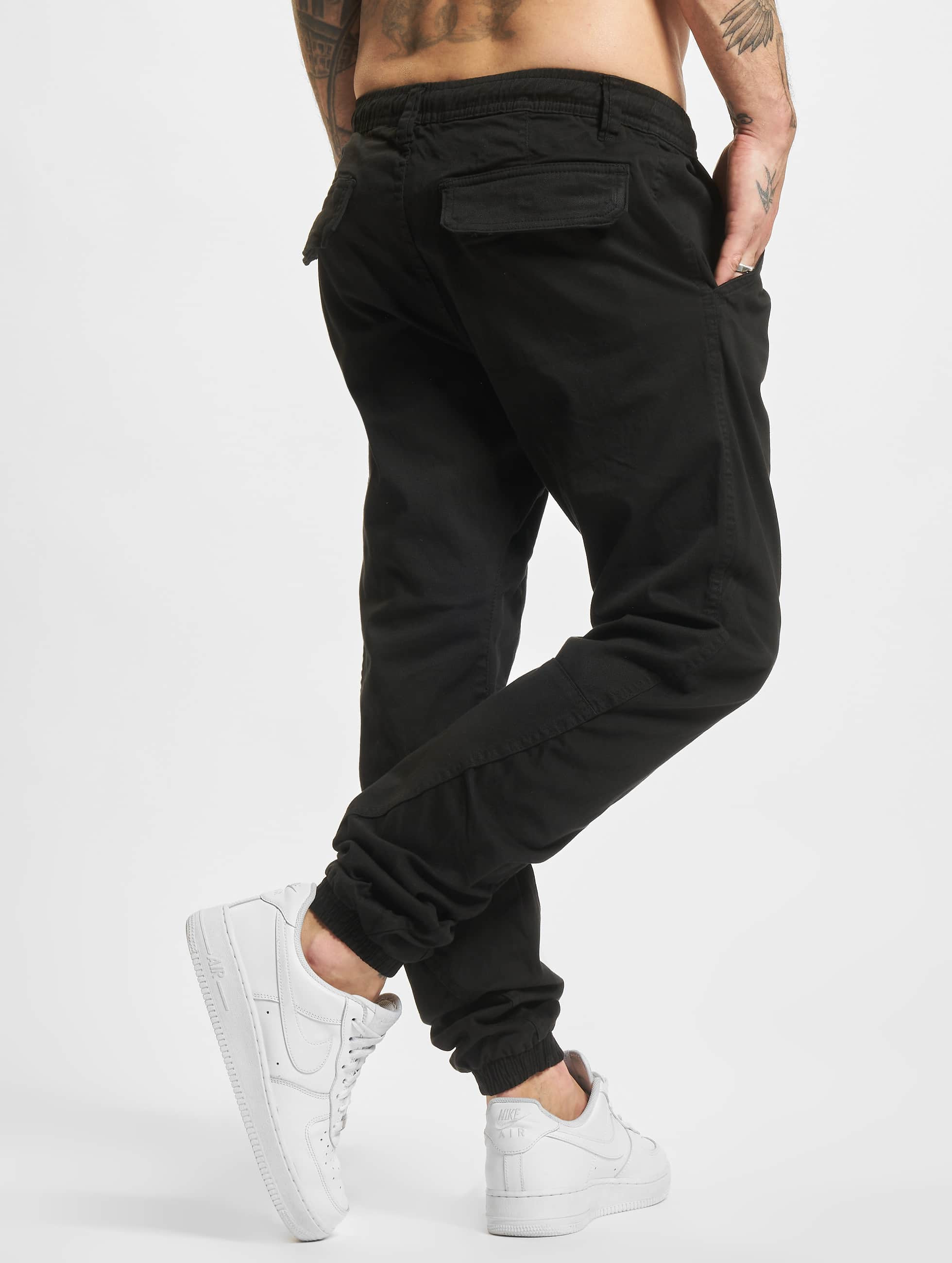 Urban Classics joggingbroek Stretch zwart
