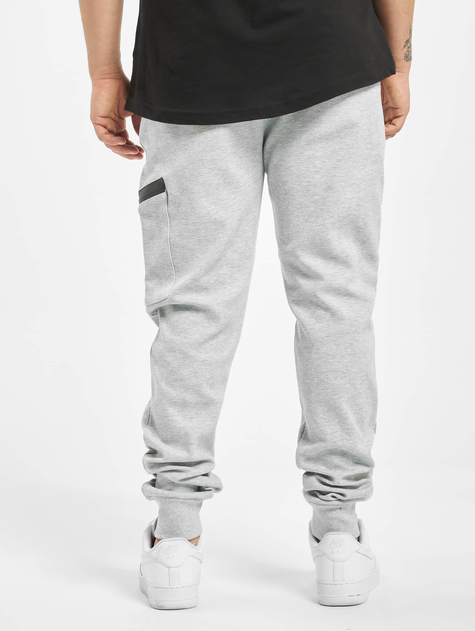 Urban Classics Jogginghose Athletic Interlock grau