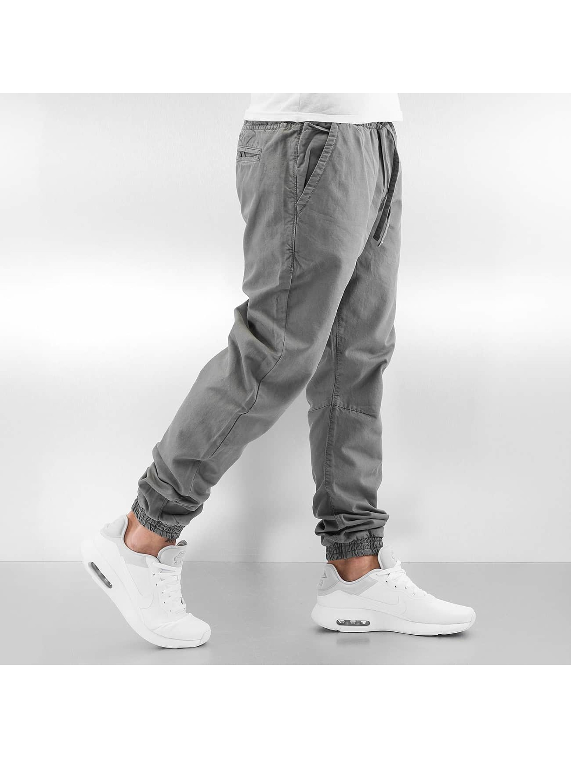 Urban Classics Jogginghose Washed Canvas grau