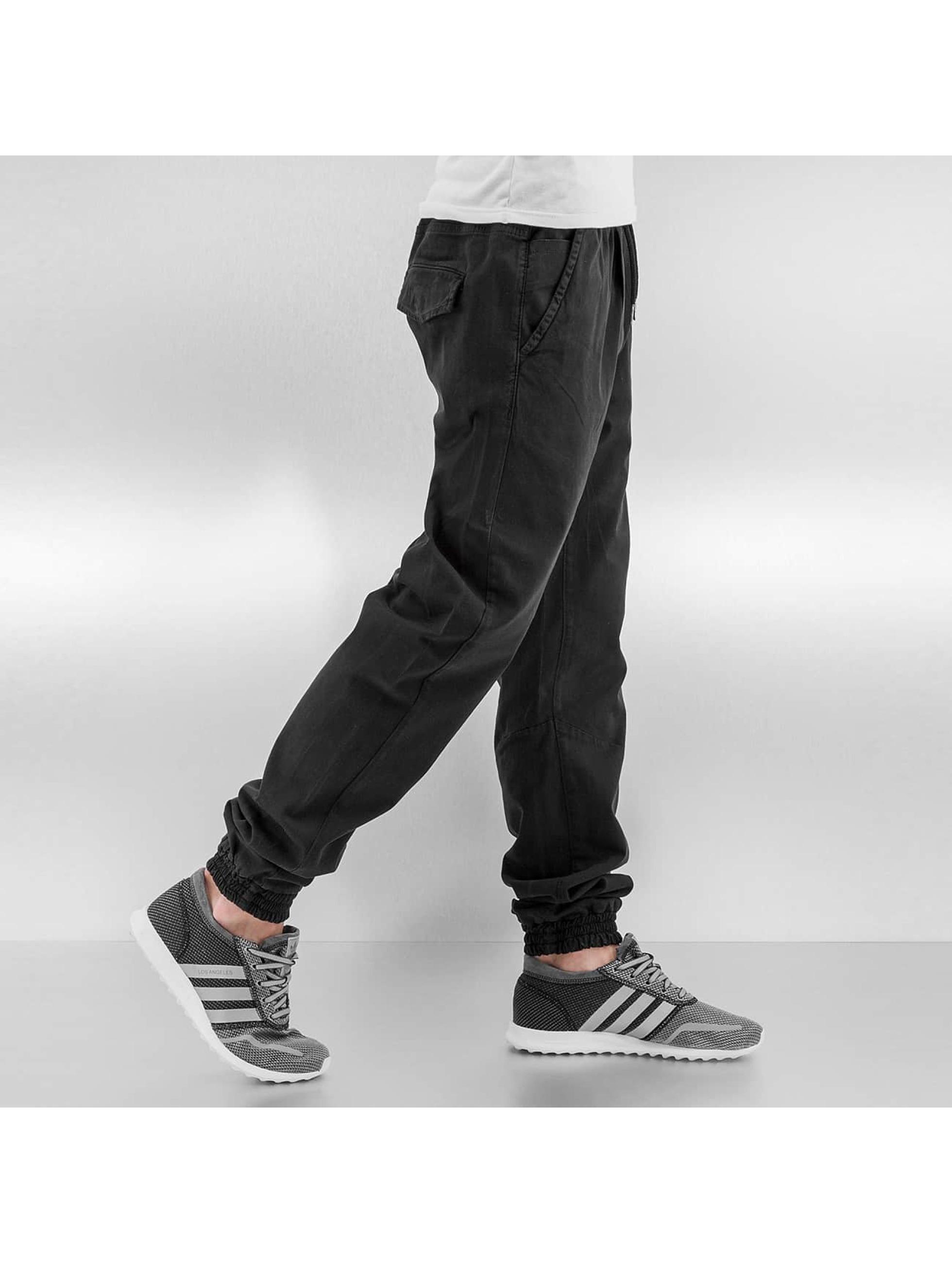 Urban Classics Jogginghose Stretch Twill schwarz