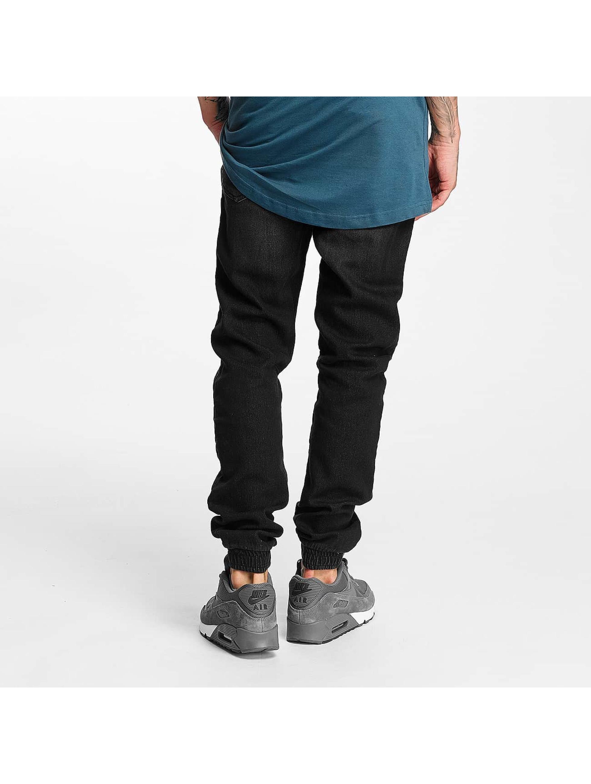 Urban Classics Jogginghose Knitted Denim schwarz
