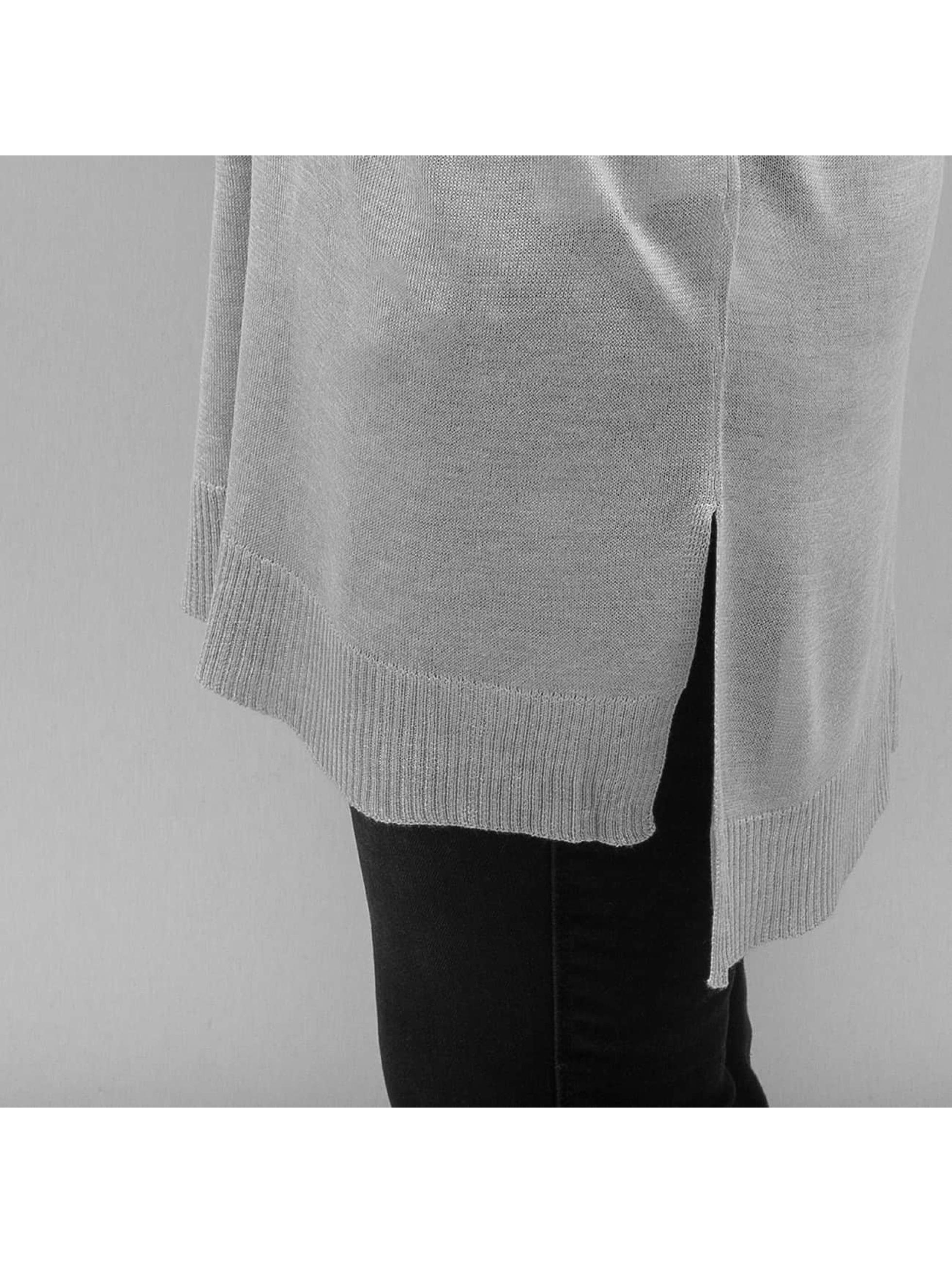 Urban Classics Jumper Ladies Fine Knit Oversize V-Neck grey