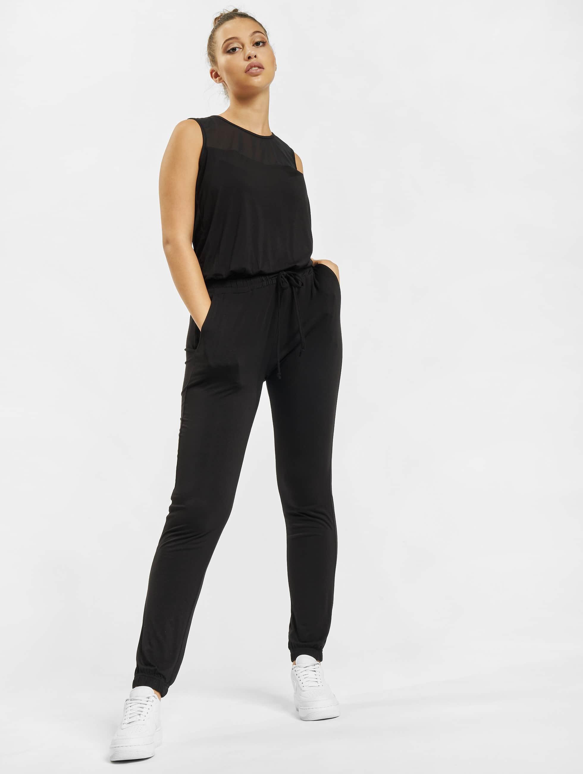 Urban Classics Jumpsuits Tech Mesh Long svart