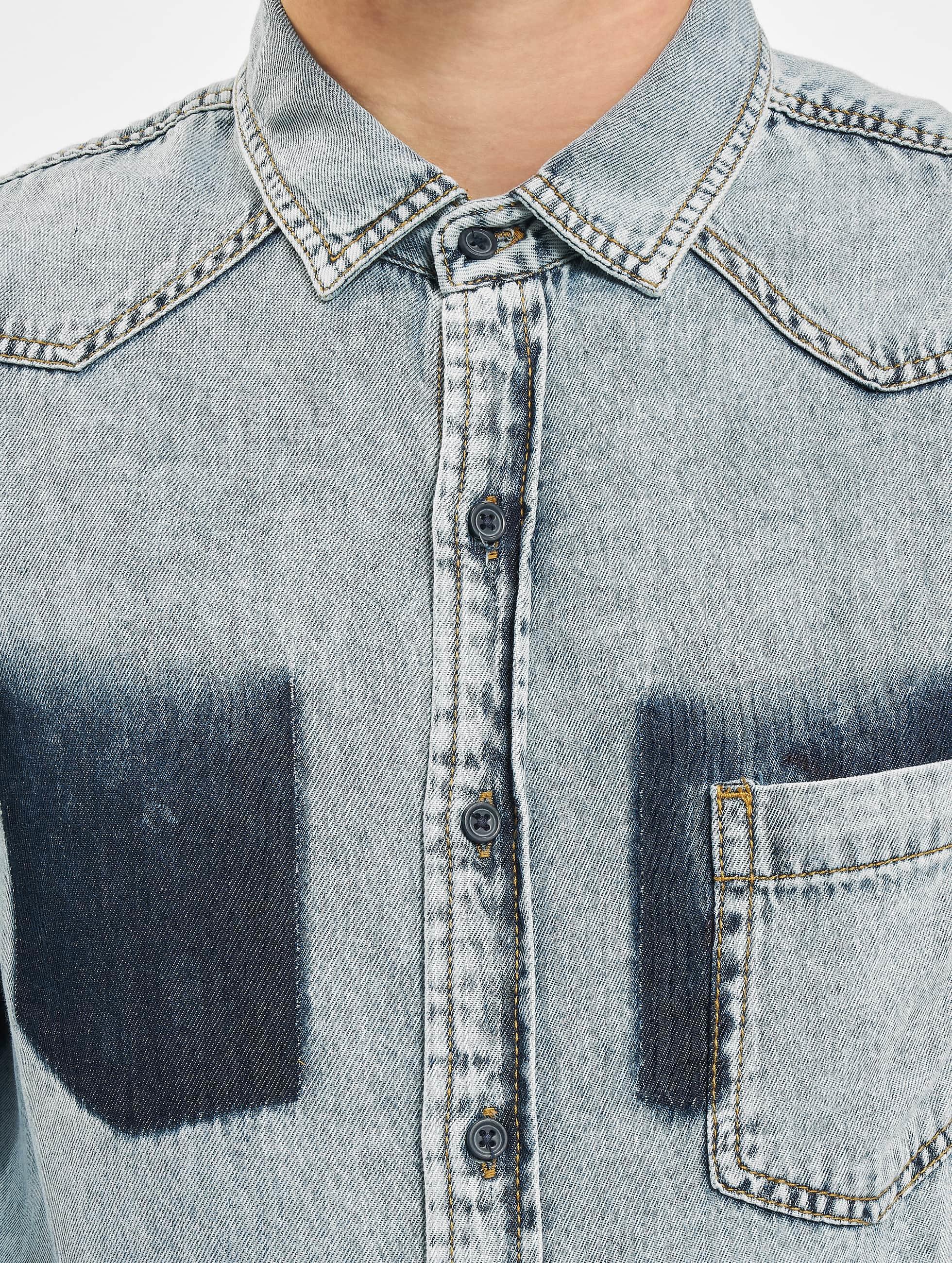 Urban Classics Košile Denim Pocket modrý
