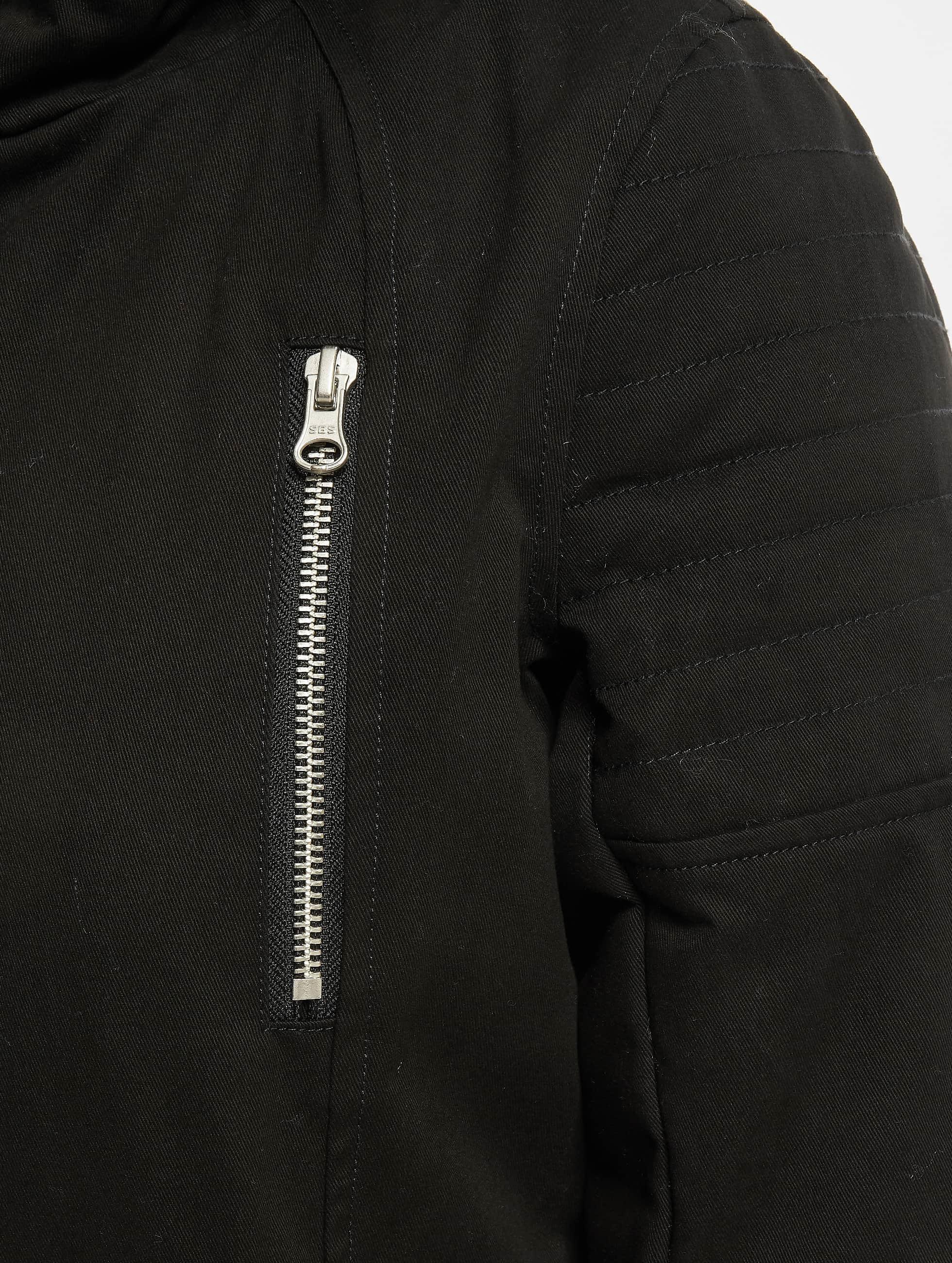 Urban Classics Kurtki zimowe Ladies Sherpa Lined Cotton czarny