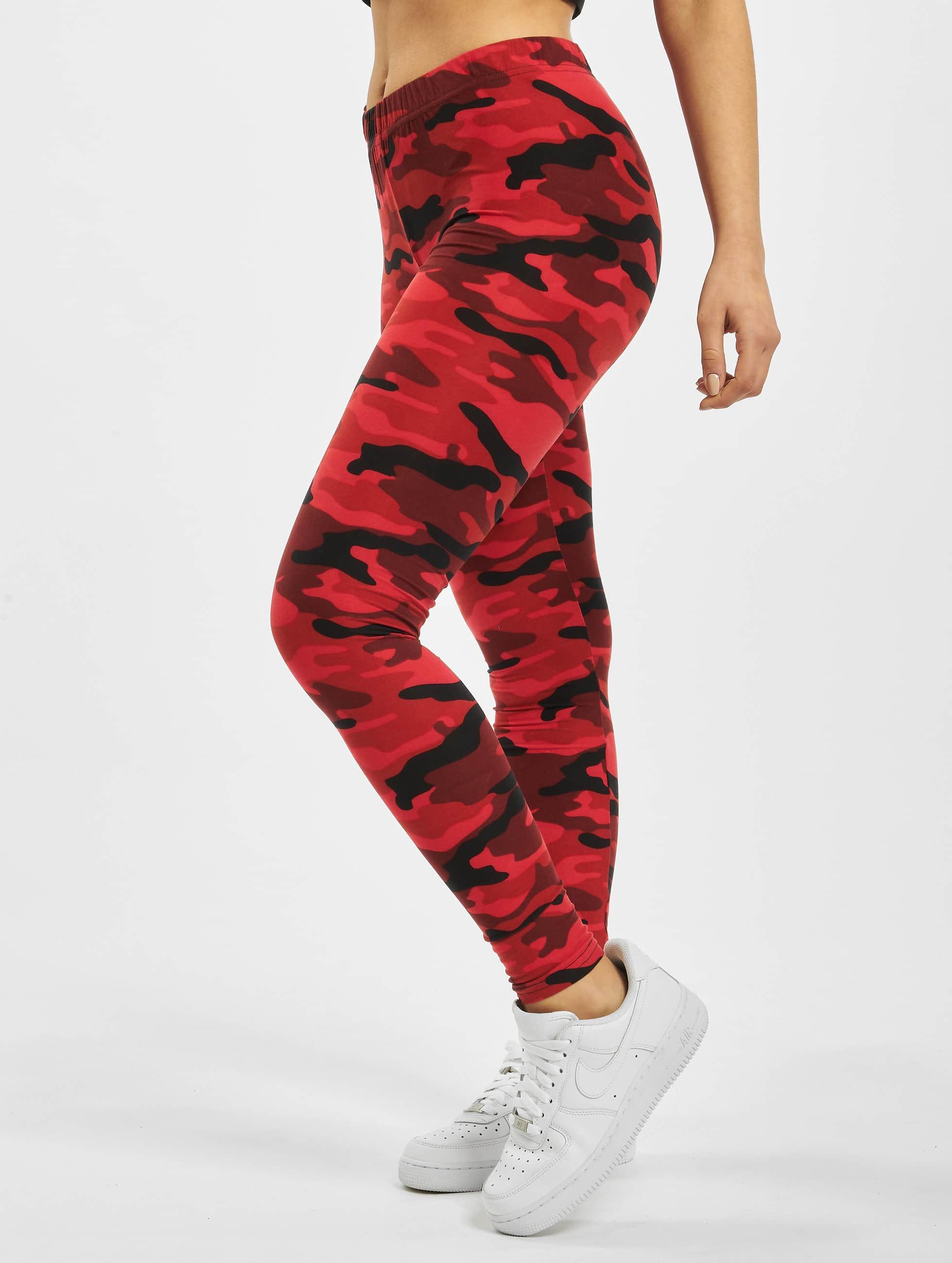 Urban Classics Legging Camo rouge