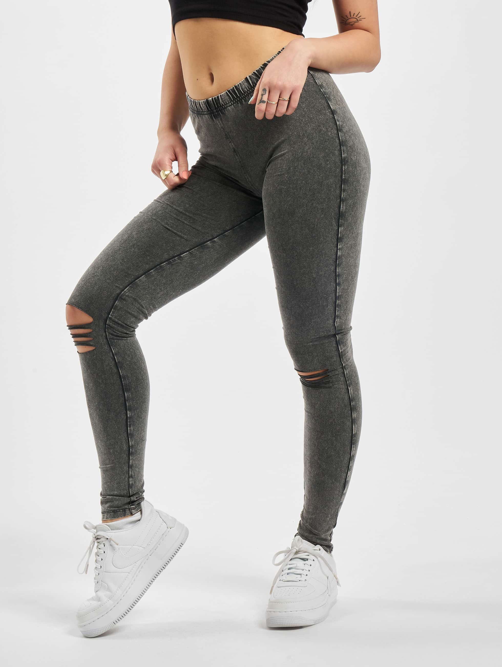 Urban Classics Legging/Tregging Cutted Knee grey