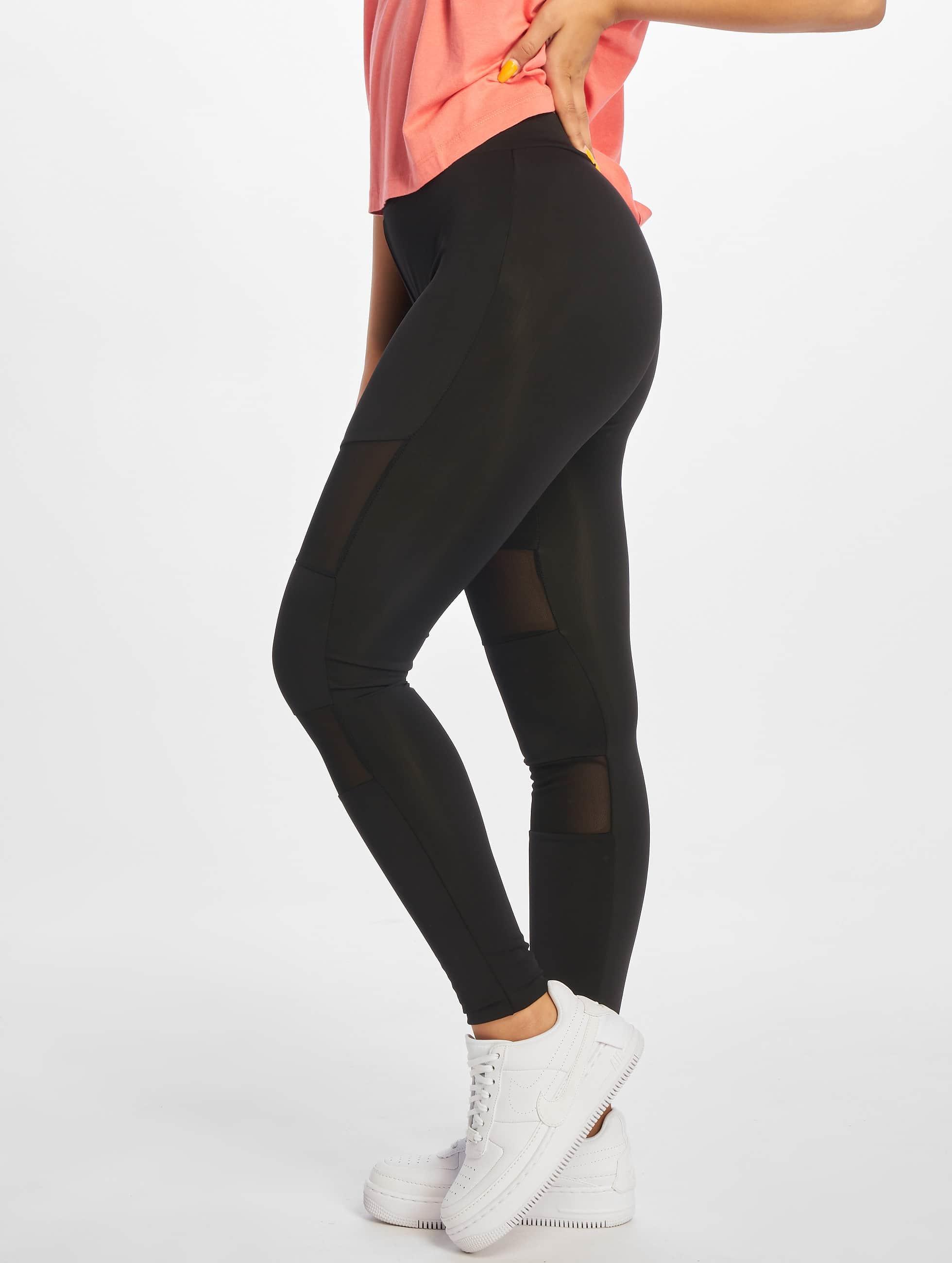 Urban Classics Leggings/Treggings Ladies Tech Mesh black