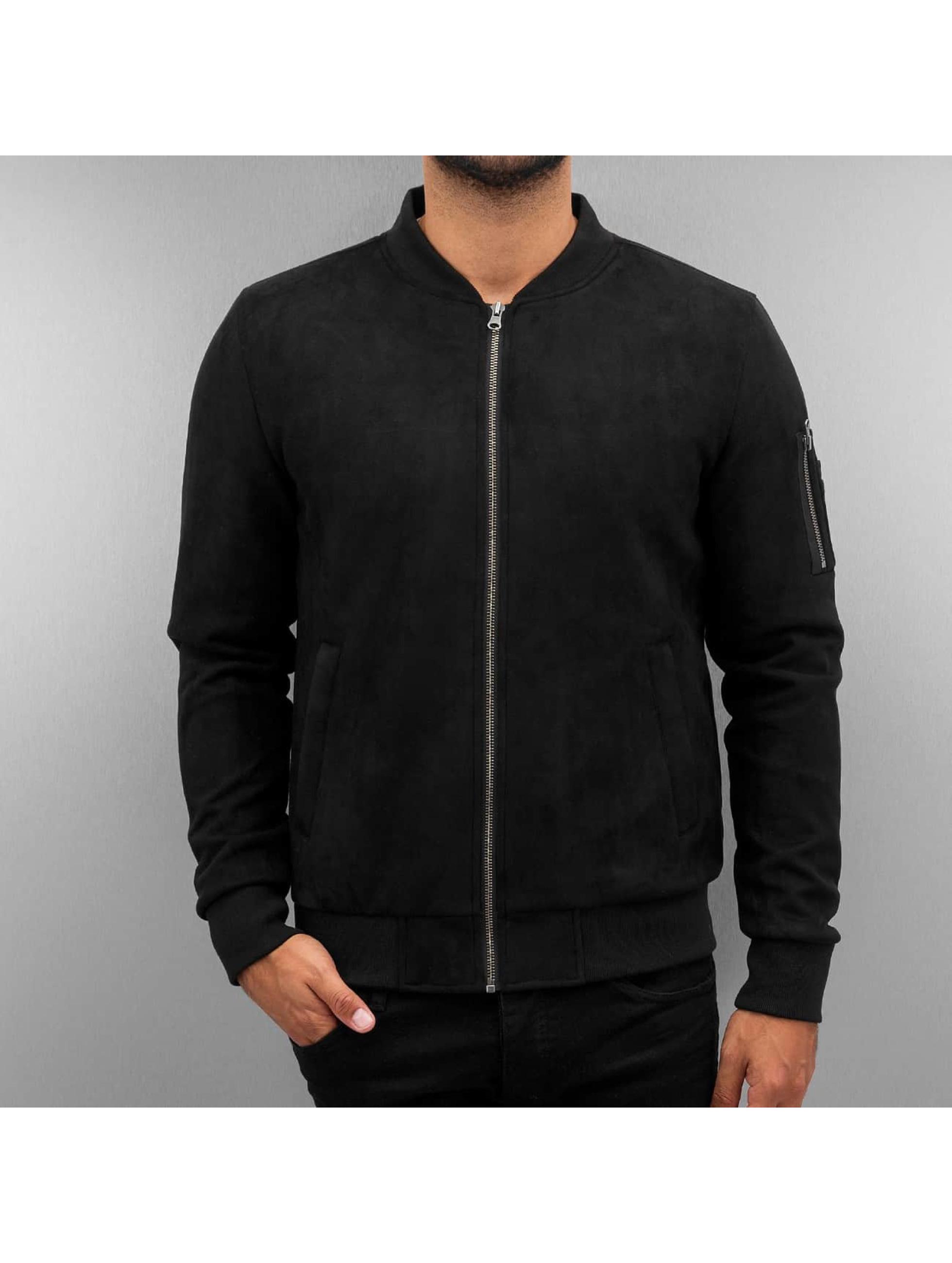 Urban Classics Lightweight Jacket Imitation Suede black