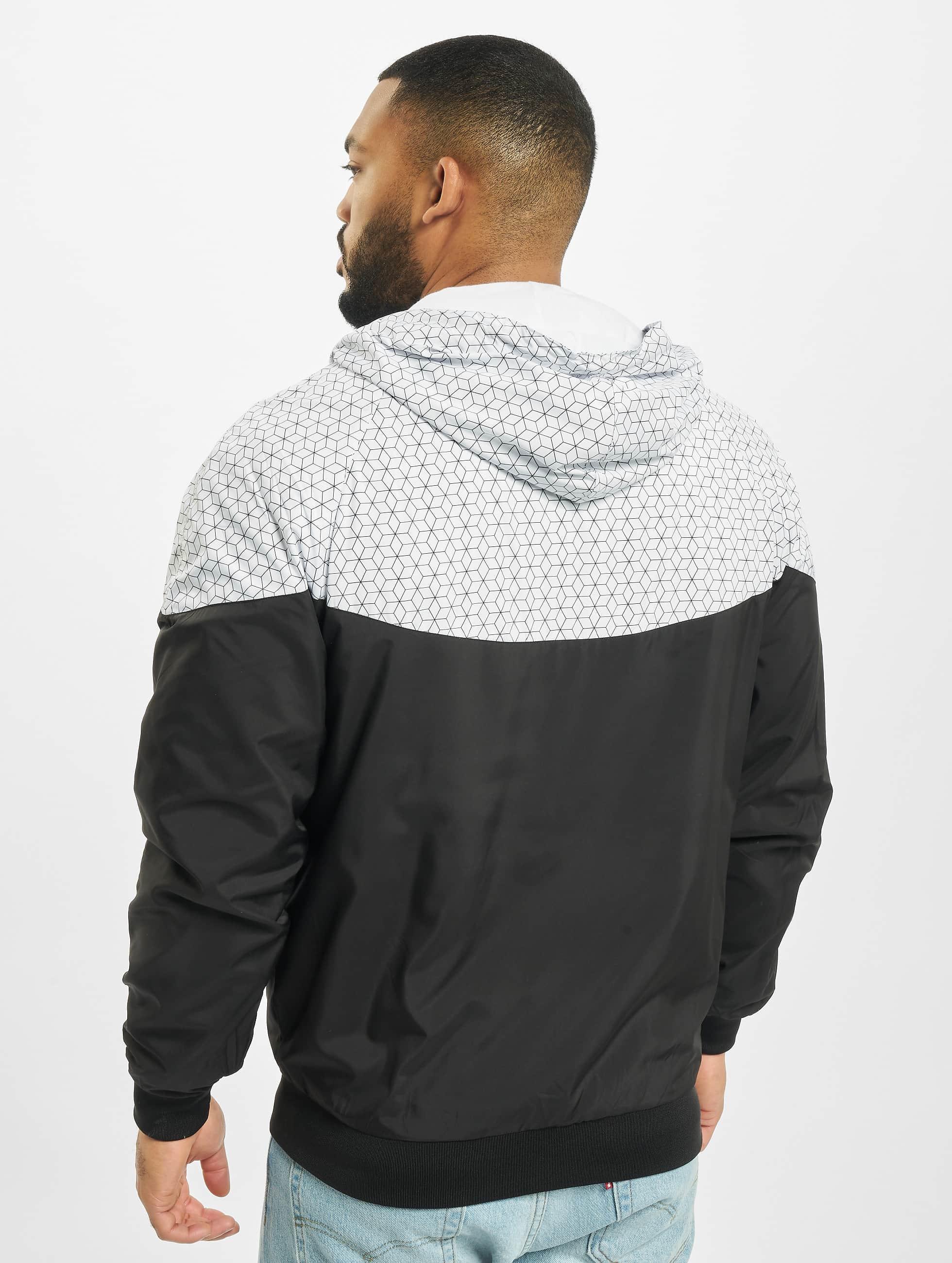 Urban Classics Lightweight Jacket Pattern Arrow Windrunner black