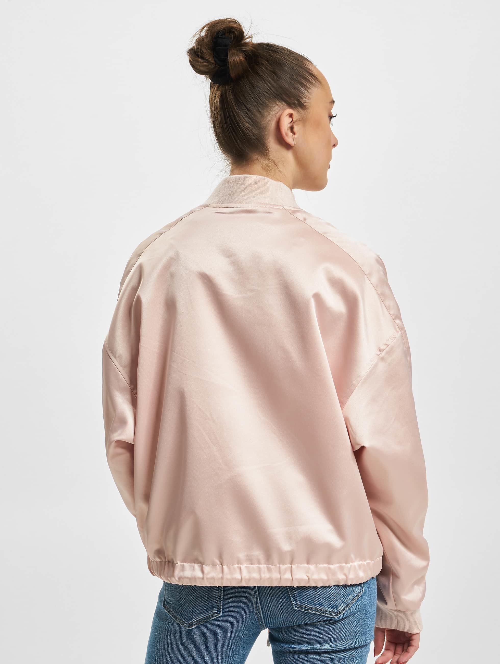 Urban Classics Lightweight Jacket Ladies Satin Kimono rose
