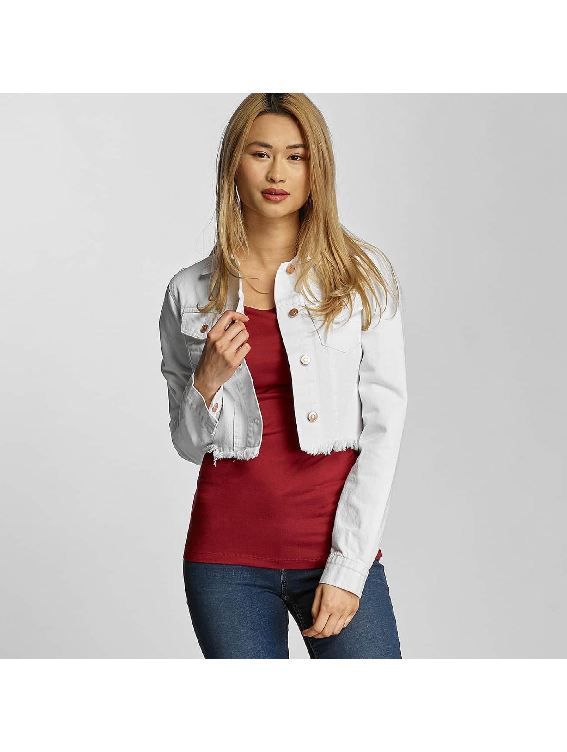 Urban Classics Lightweight Jacket Ladies Short Denim white