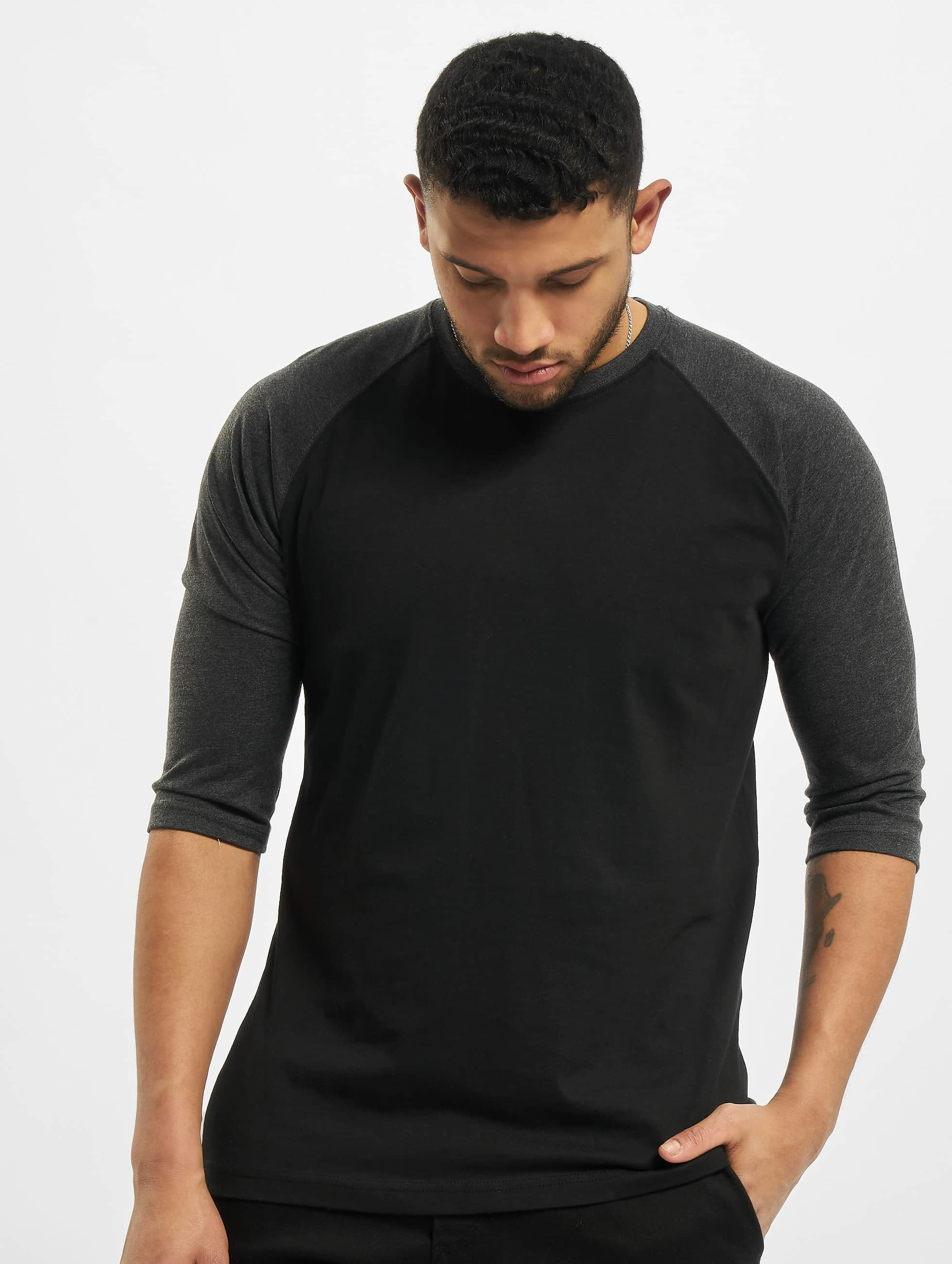 Urban Classics Longsleeve Contrast 3/4 Sleeve Raglan black