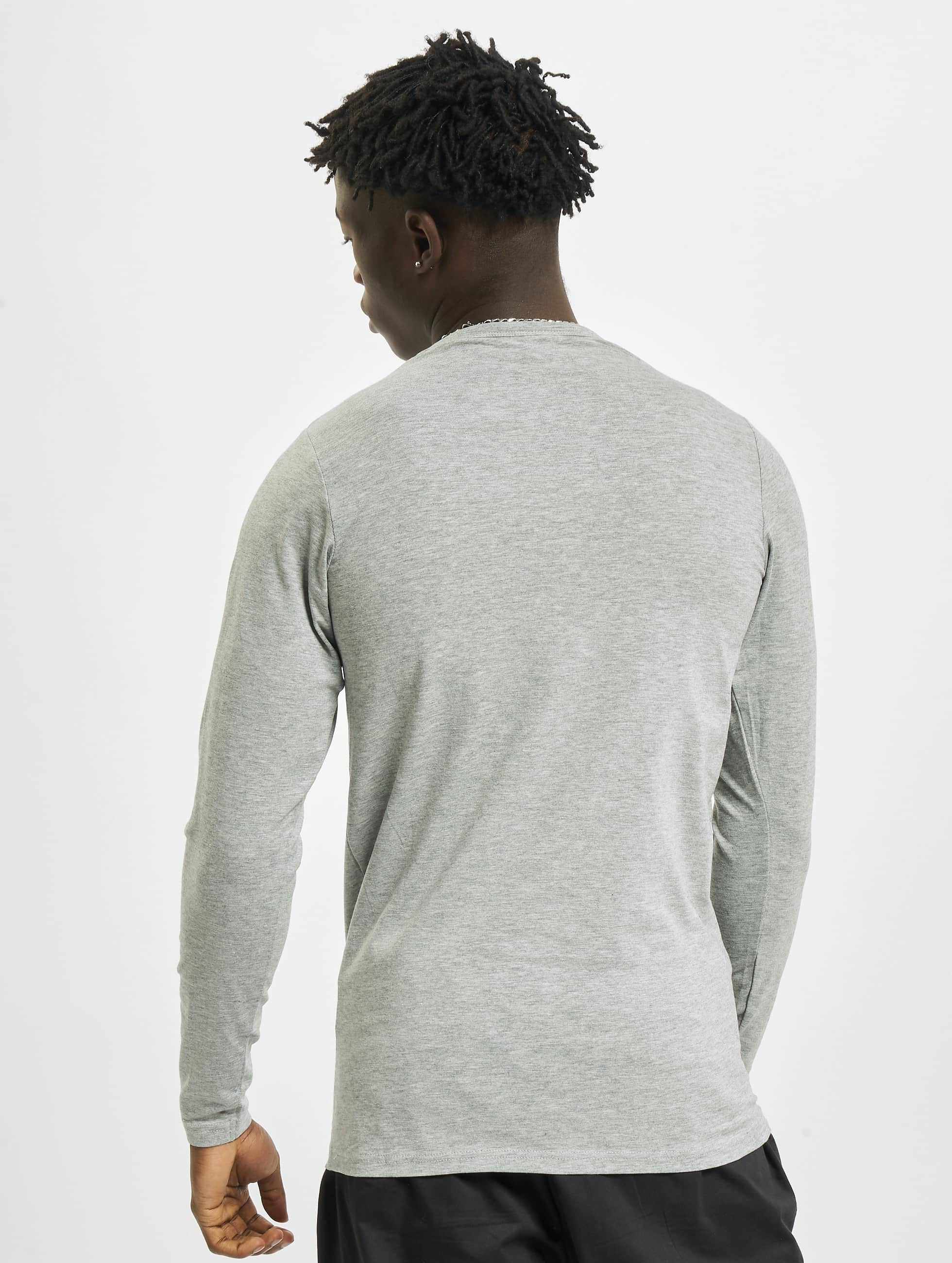 Urban Classics Longsleeve Fitted Stretch grijs
