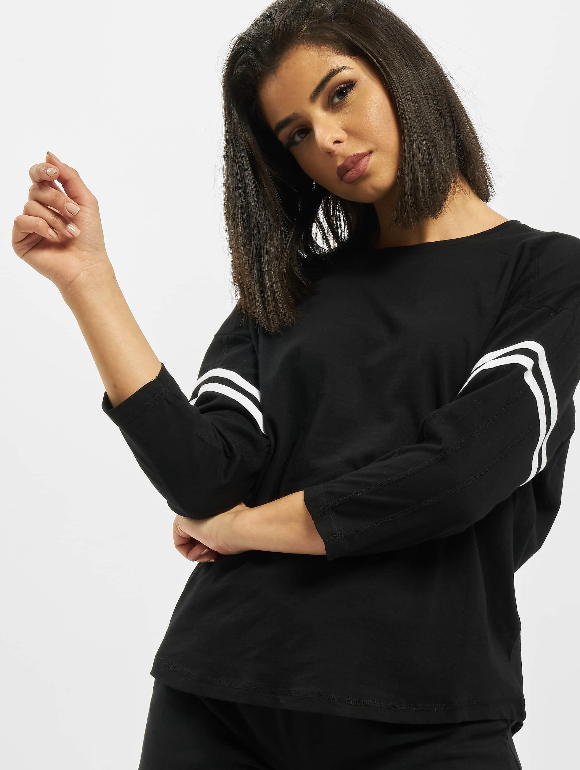 Urban Classics Longsleeve Sleeve Striped schwarz