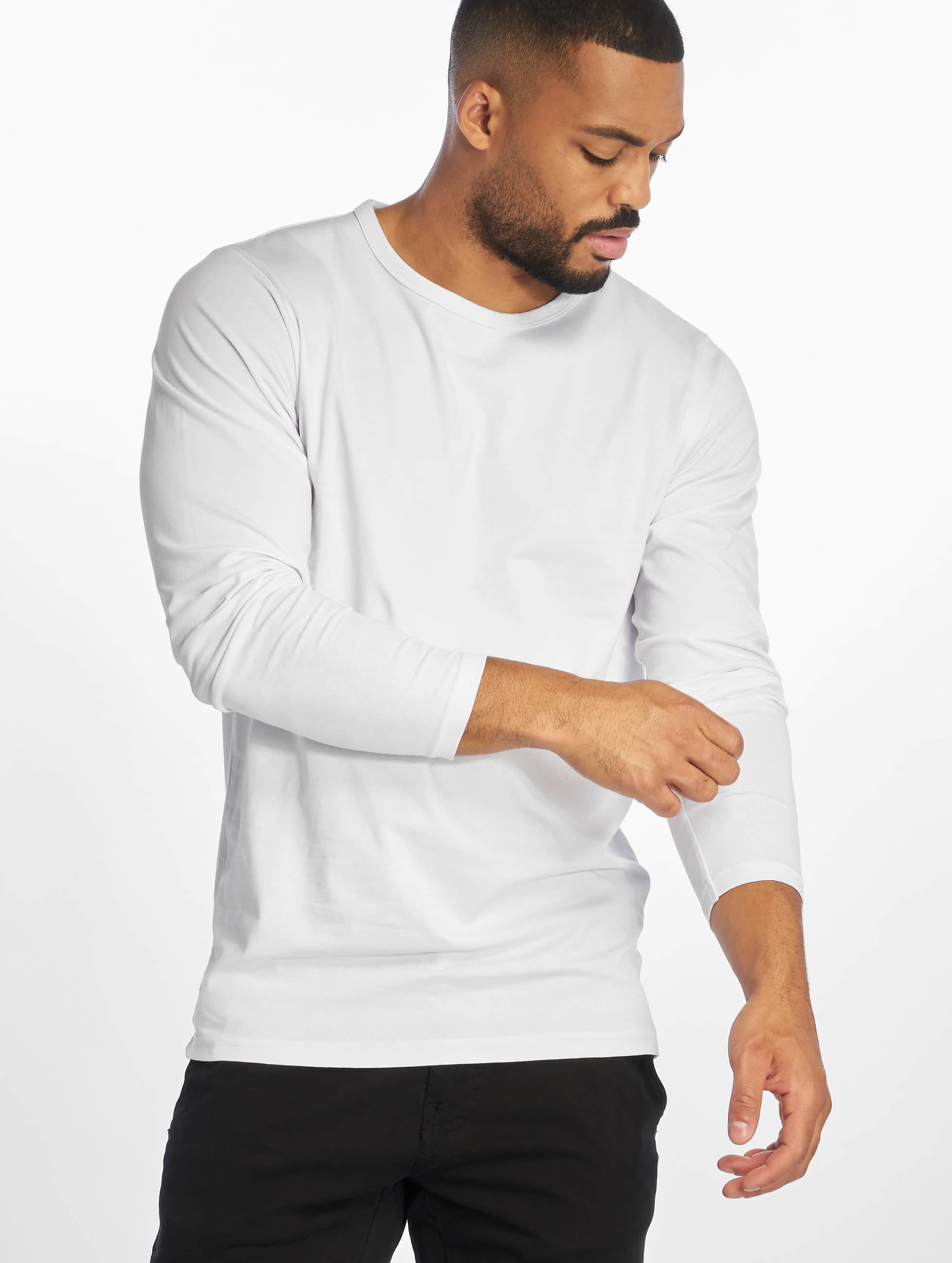Urban Classics Longsleeve Fitted Stretch weiß