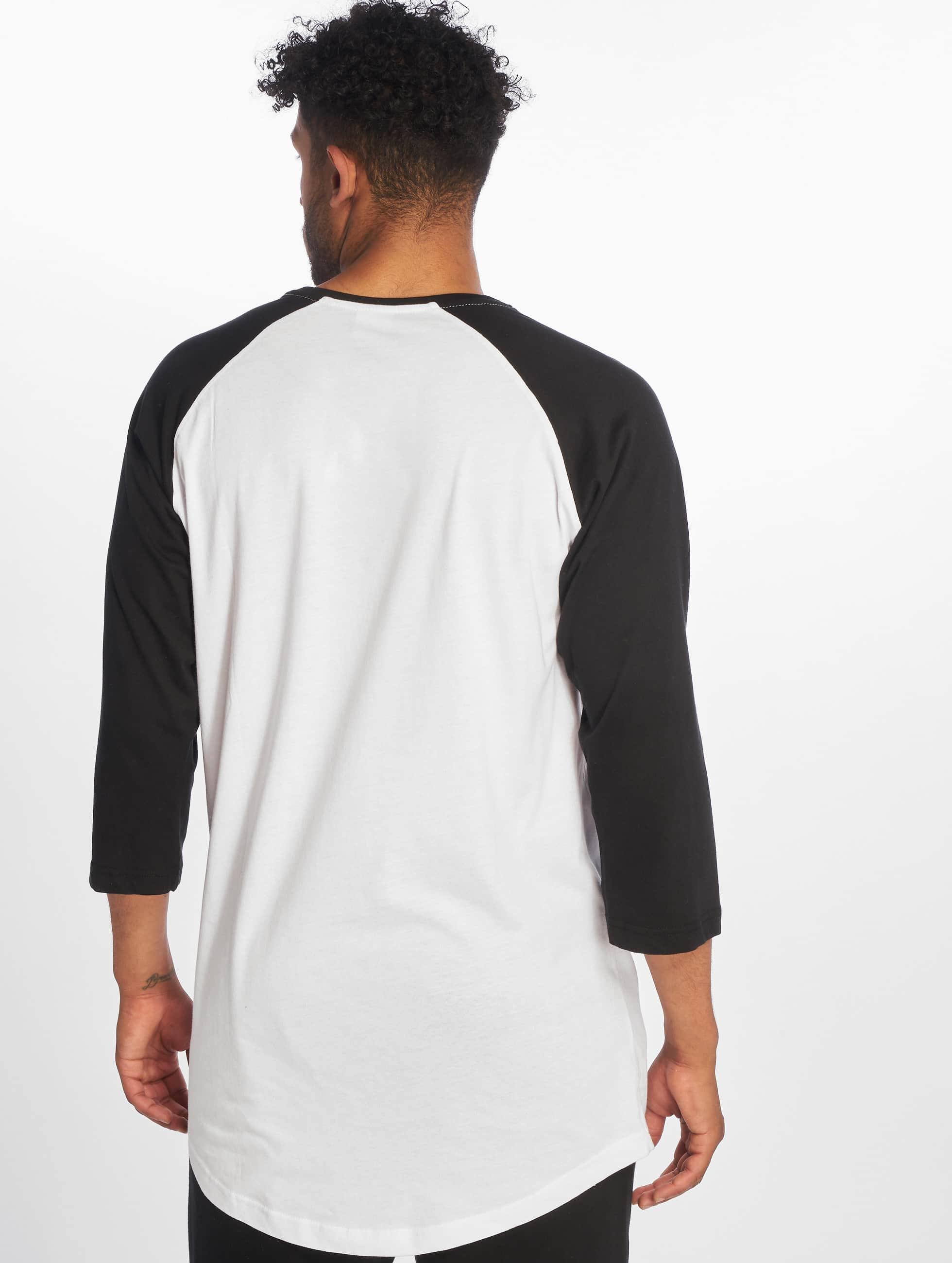 Urban Classics Longsleeve Long Raglan 3/4 Sleeve Pocket wit