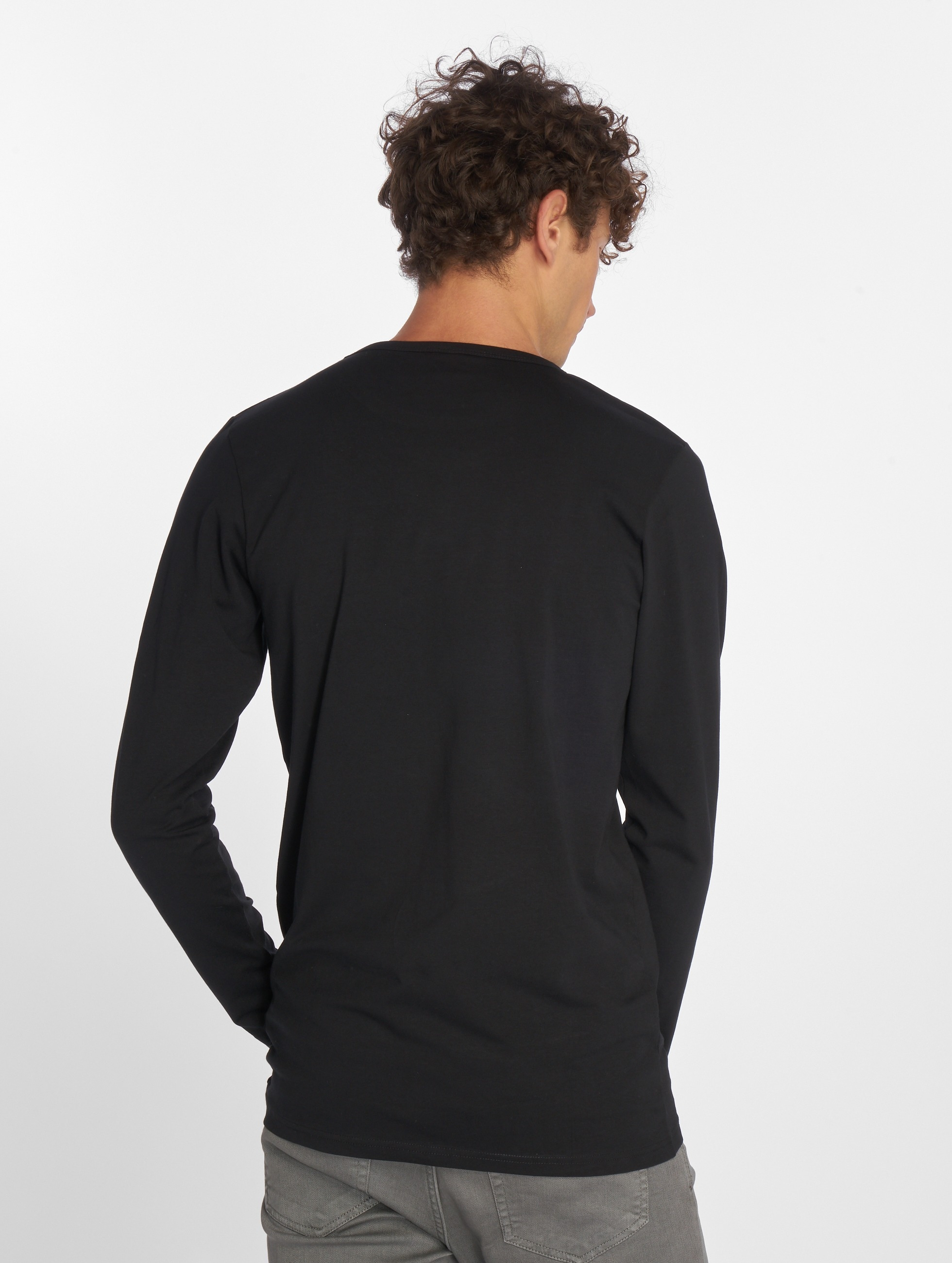 Urban Classics Longsleeve Fitted Stretch zwart