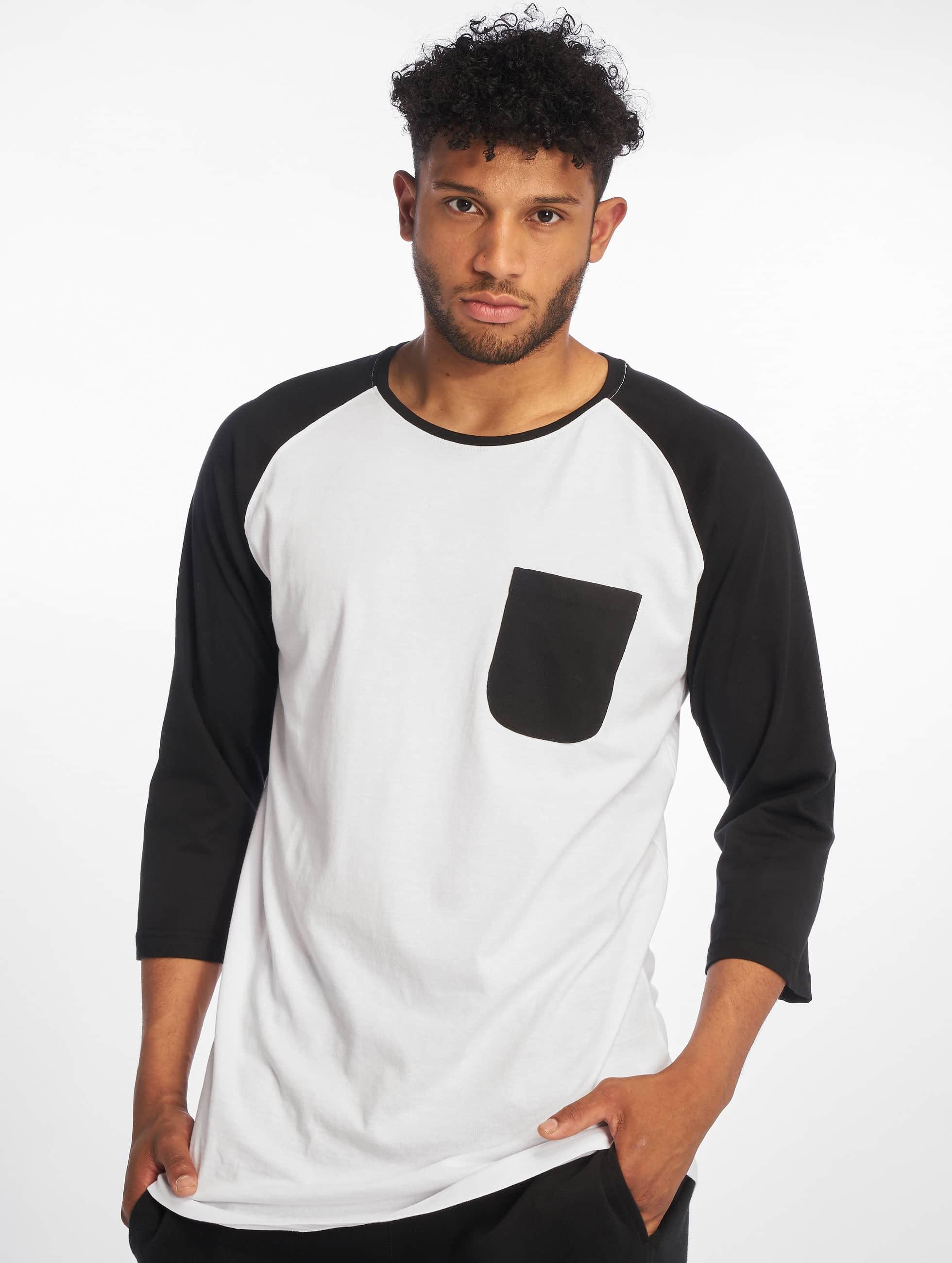 Urban Classics Maglietta a manica lunga Long Raglan 3/4 Sleeve Pocket bianco