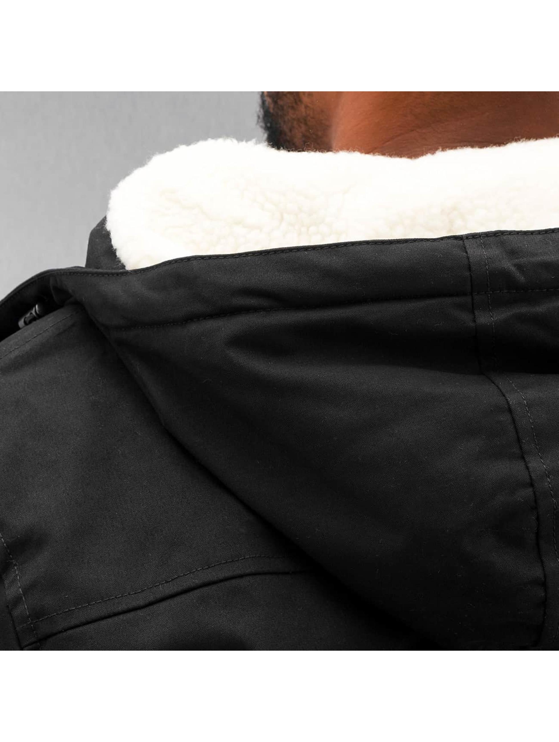 Urban Classics Manteau hiver Heave Cotton noir