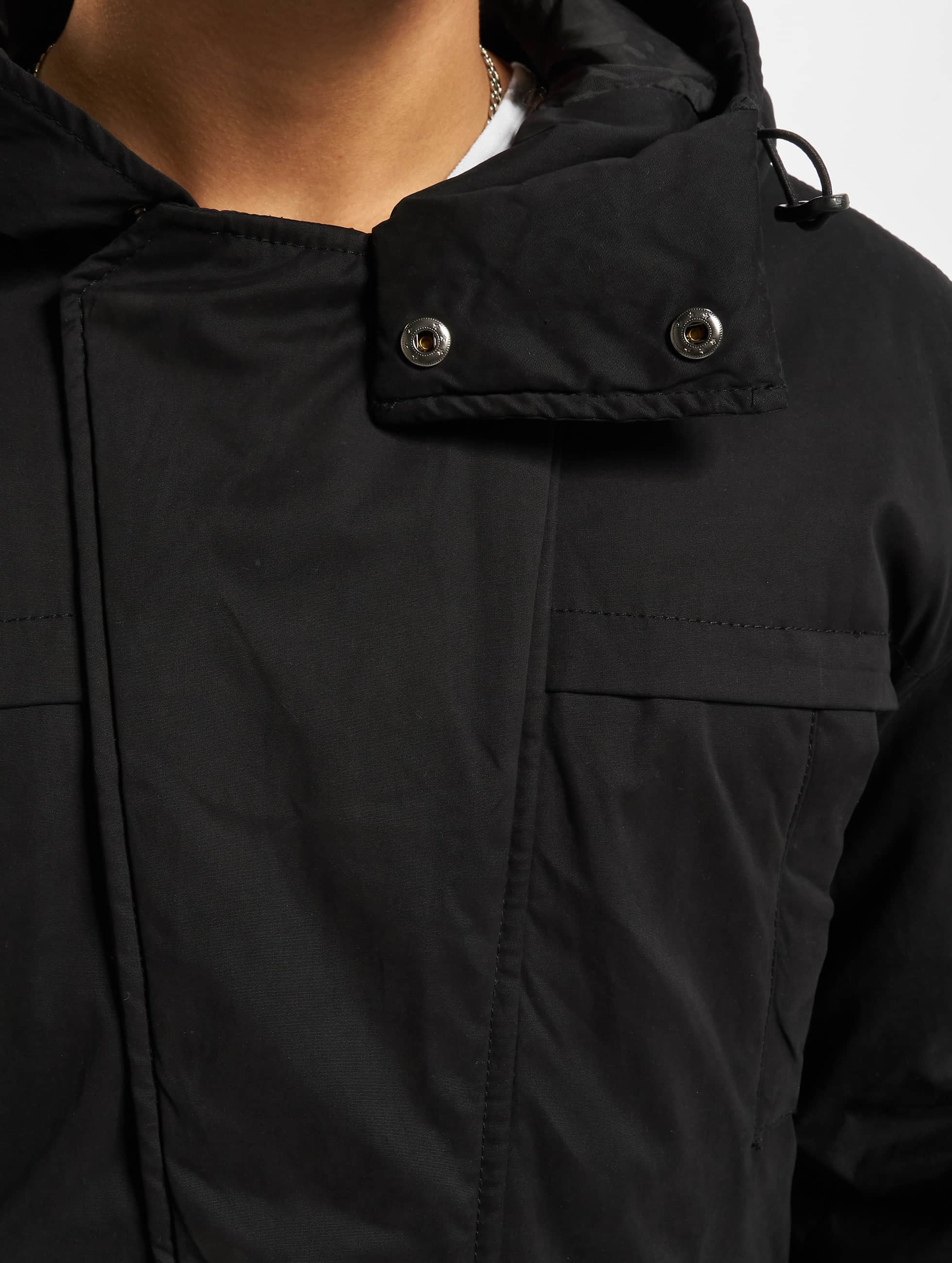 Urban Classics Manteau Cotton Peached Canvas noir