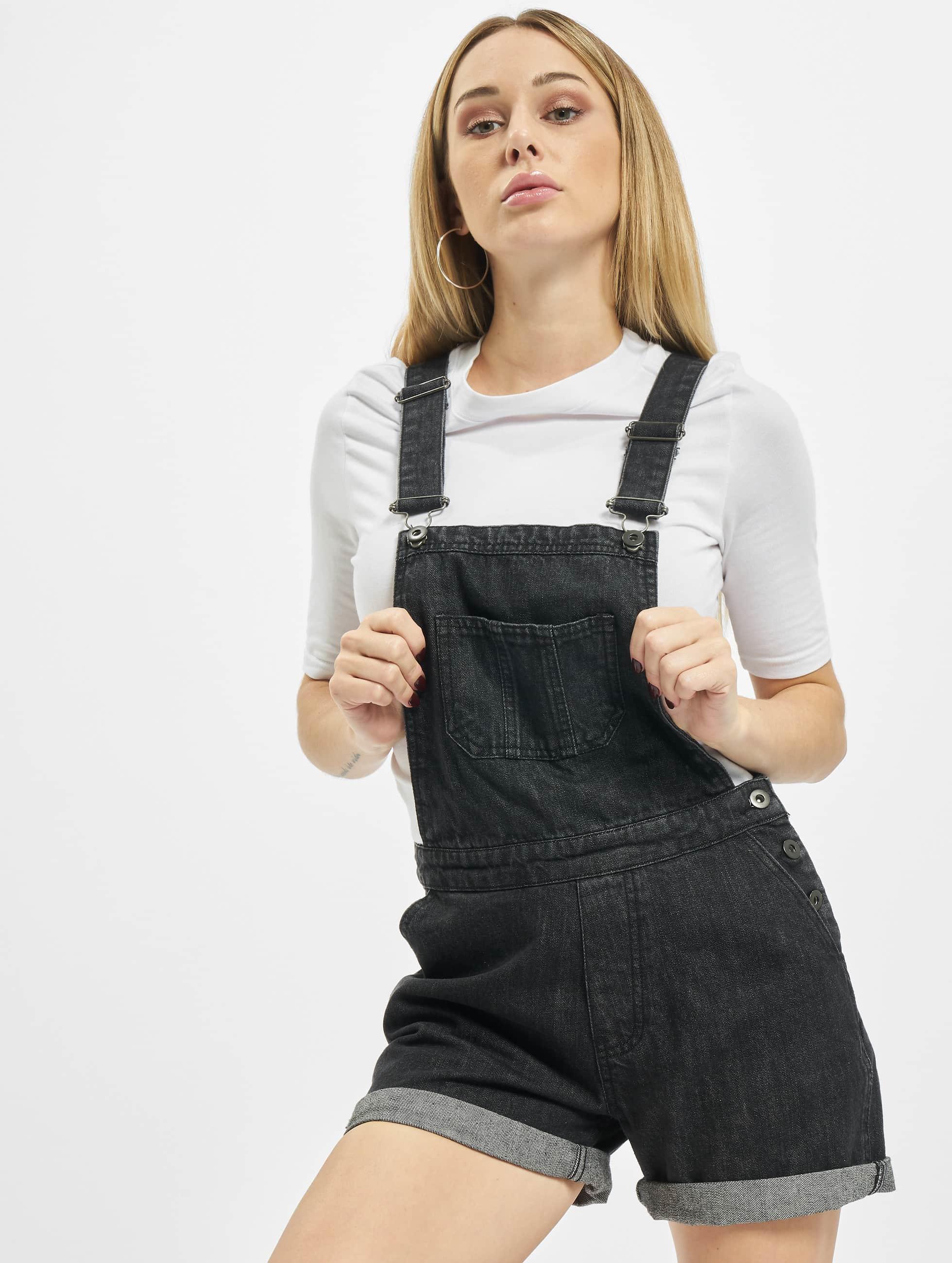 Urban Classics Overály Ladies Short èierna