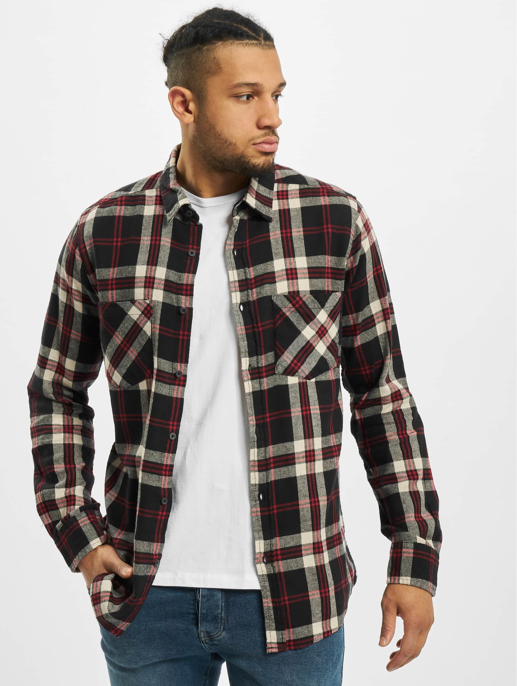 Urban Classics heren overhemd Checked Flanell 3 - zwart