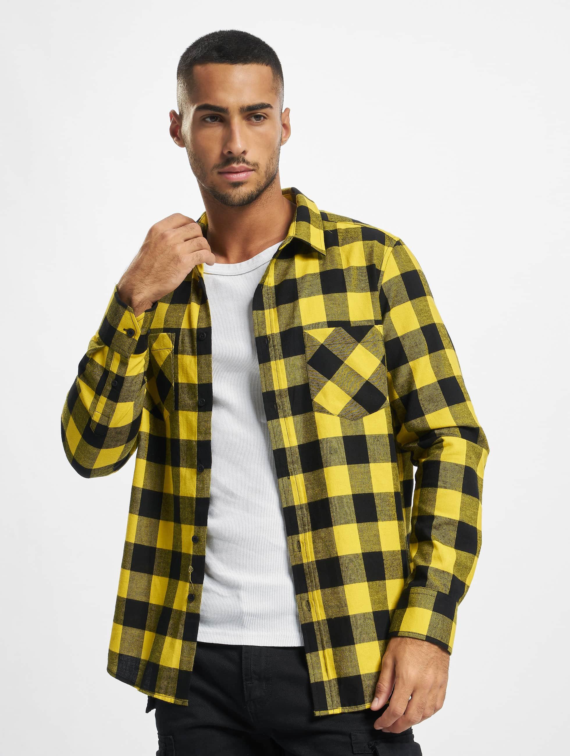 Urban Classics Checked Flanell Shirt BlackHoney